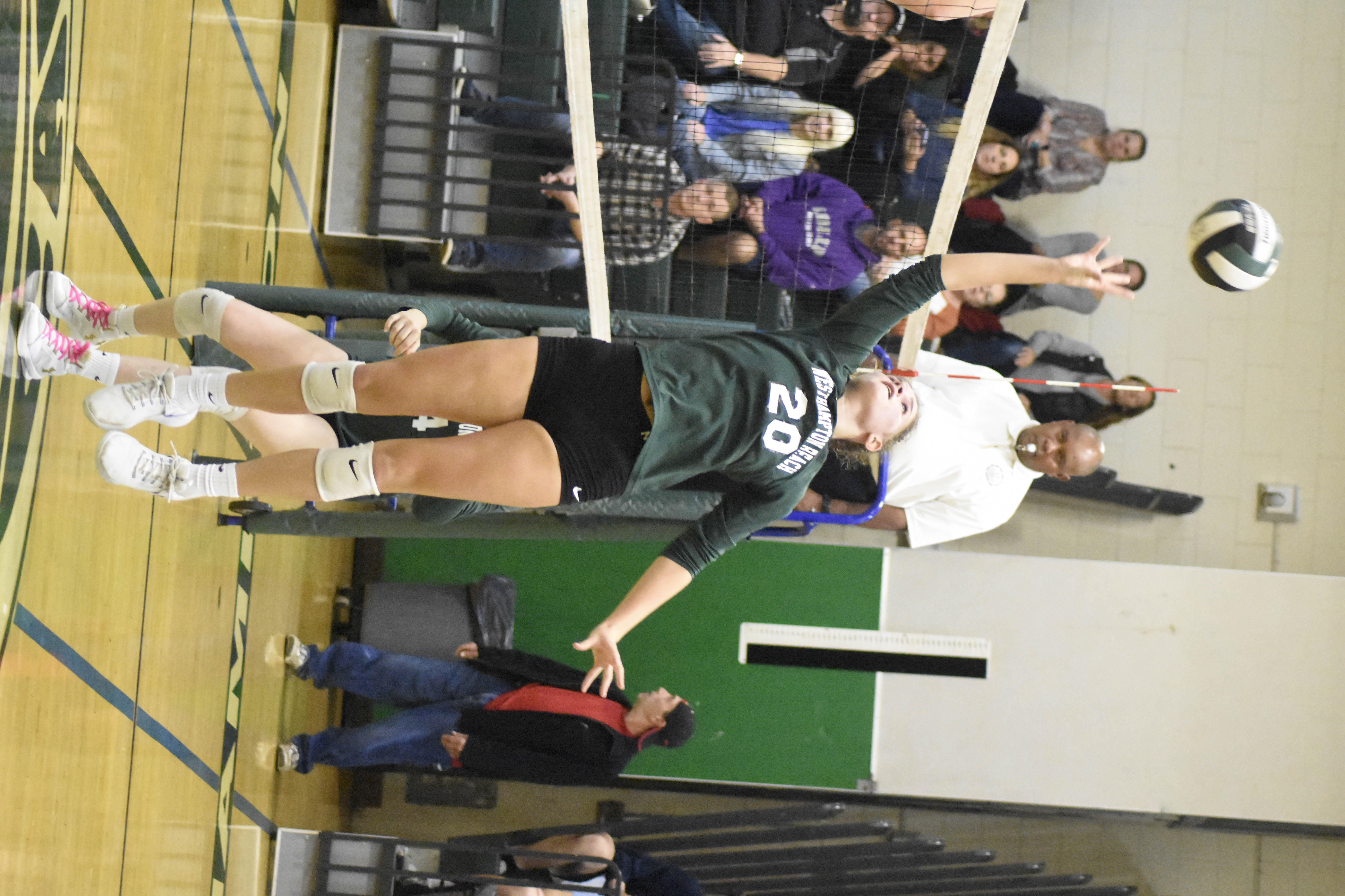 Westhampton Beach sophomore Emmie Koszalka had seven kills in Wednesday's victory.