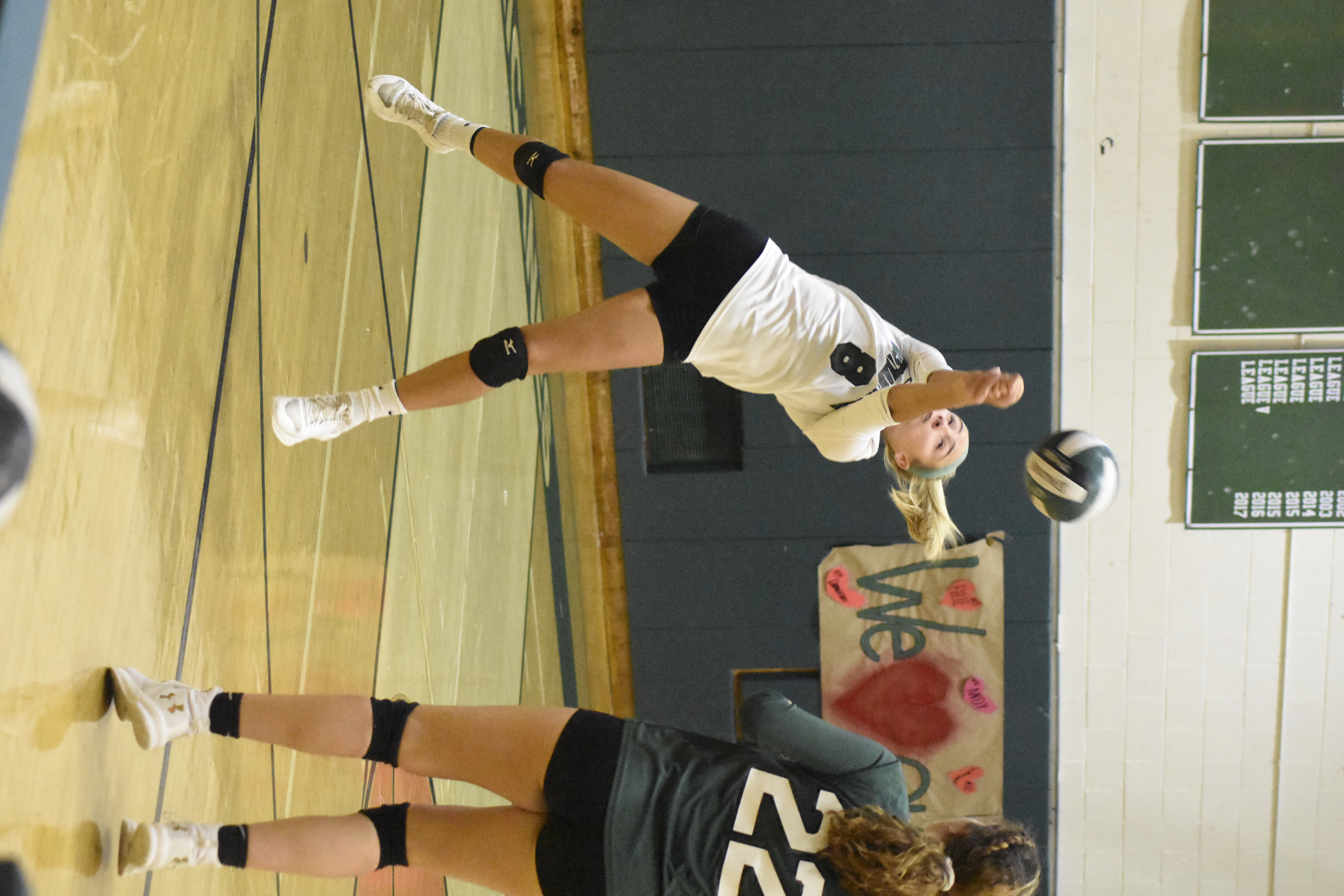 Westhampton Beach senior Isabelle Smith had 33 digs in Wednesday's match.