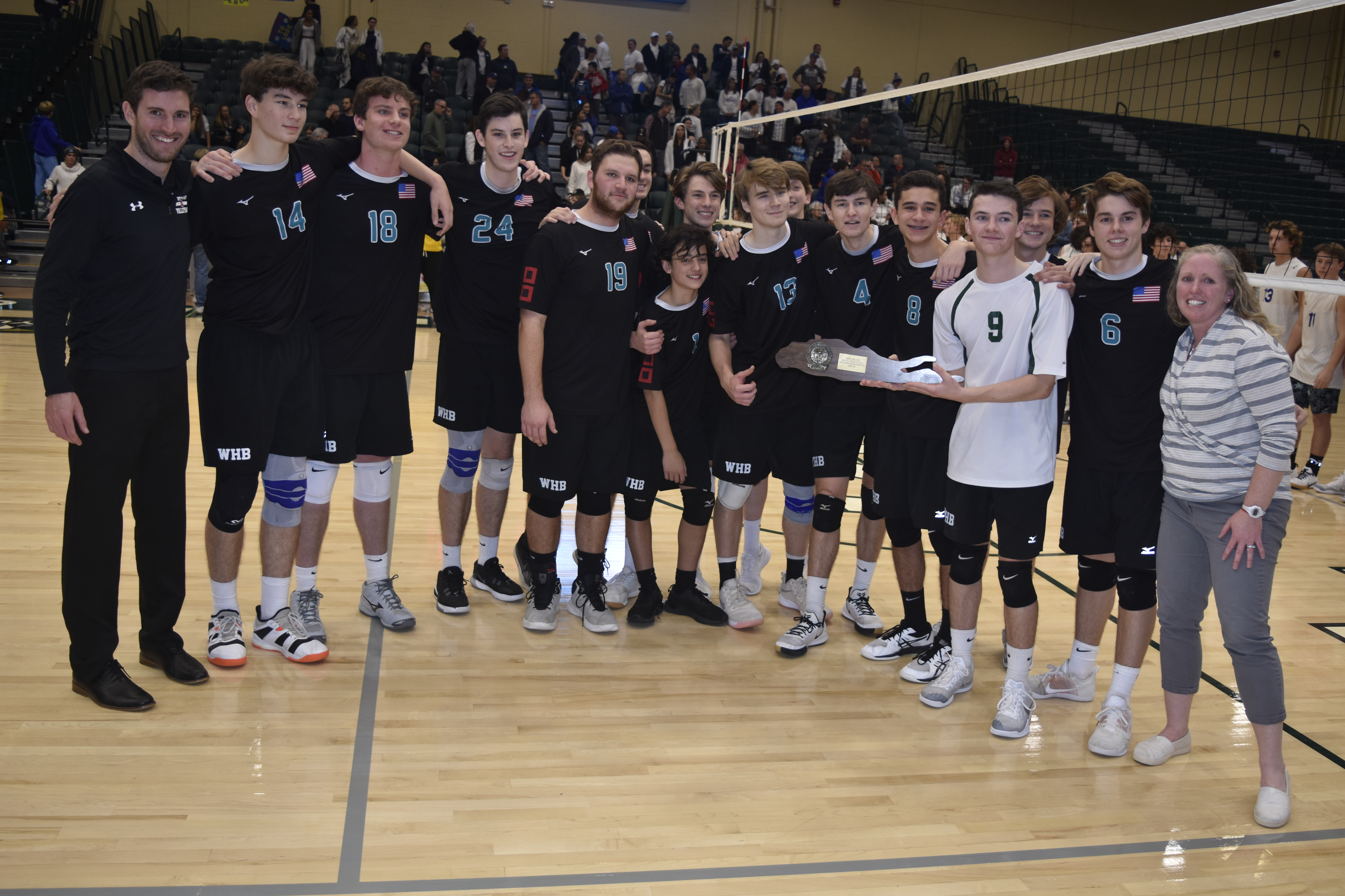 The Westhampton Beach boys volleyball team won its first ever Long Island Championship on Tuesday night after defeating Long Beach, 3-2.