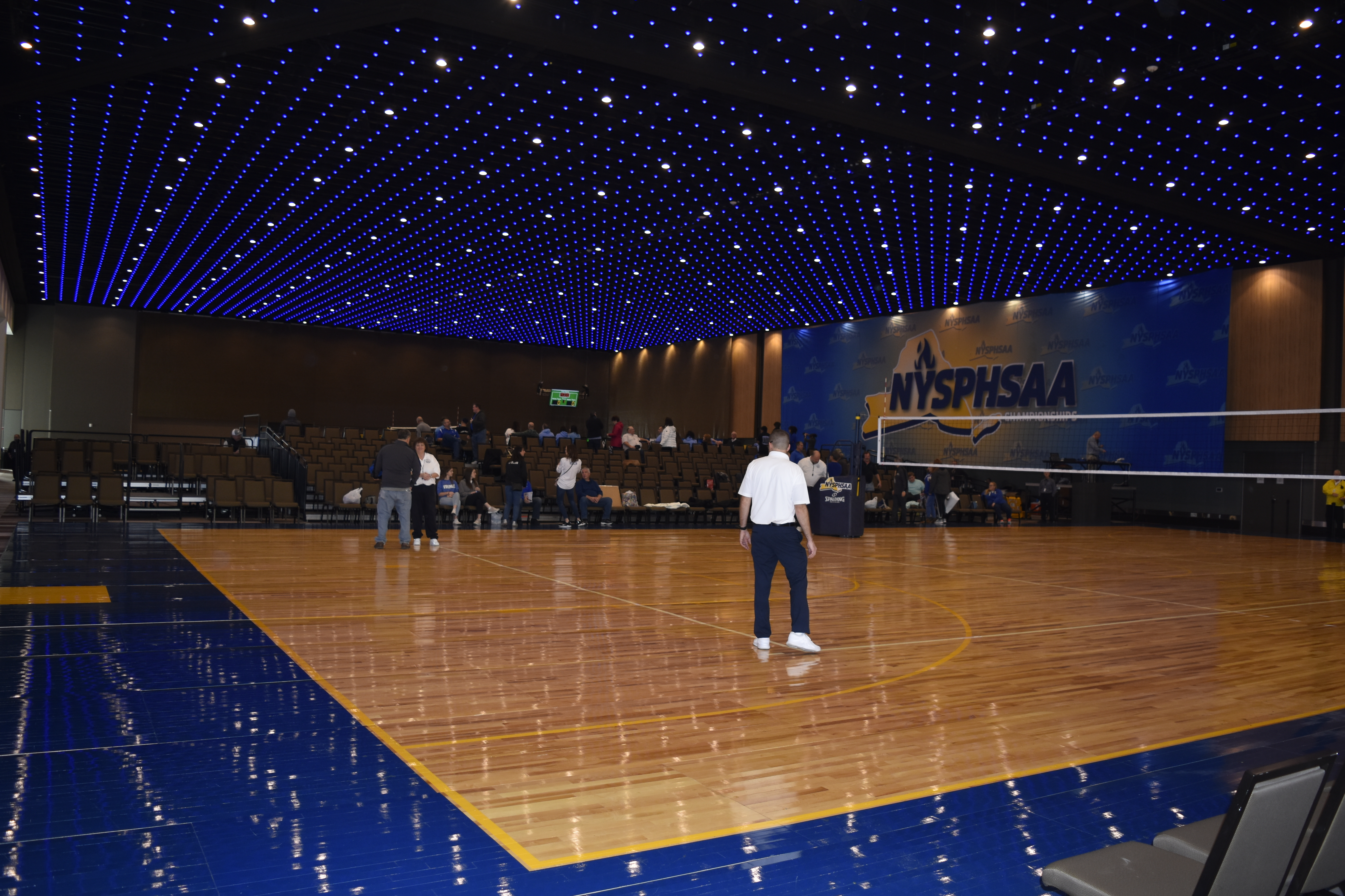 The Albany Capital Center, just built in 2017, was the site of this year's New York State Boys Volleyball Championships.