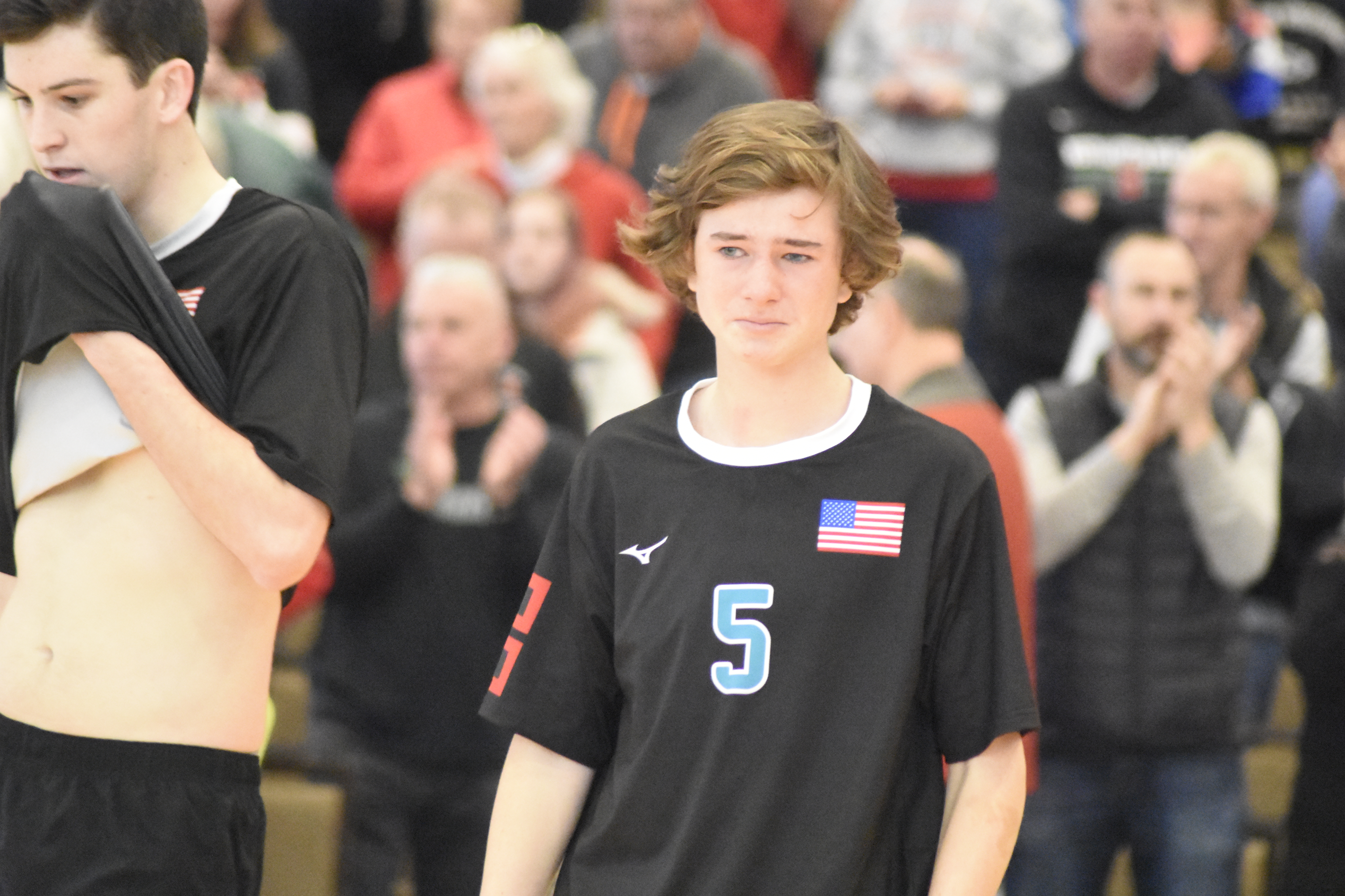 A number of players, such as sophomore Conor Farnan, shed some tears after the Hurricanes lost all four of its games and not advancing to the finals.