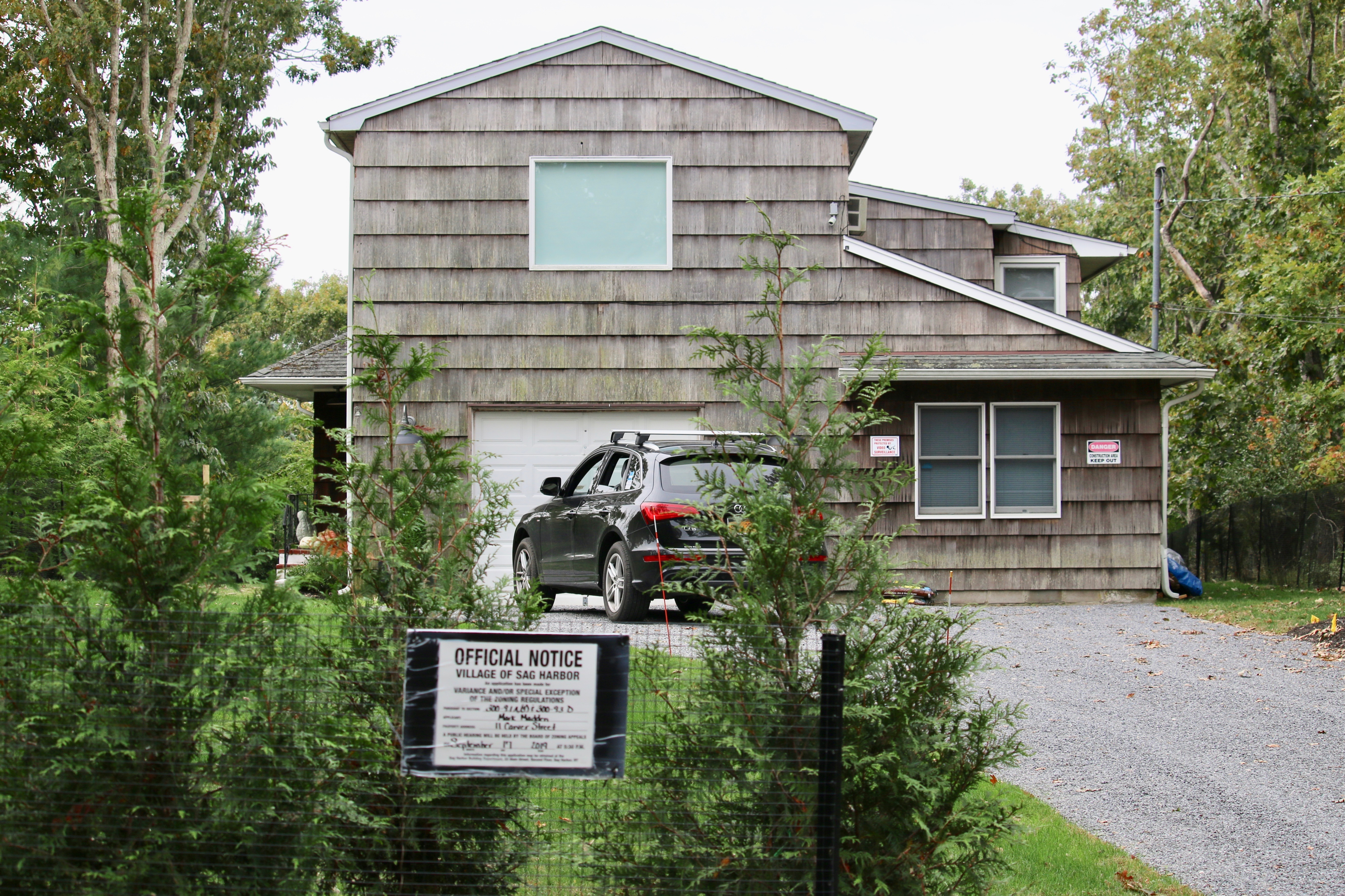 The exterior of 11 Carver Street in Sag Harbor.