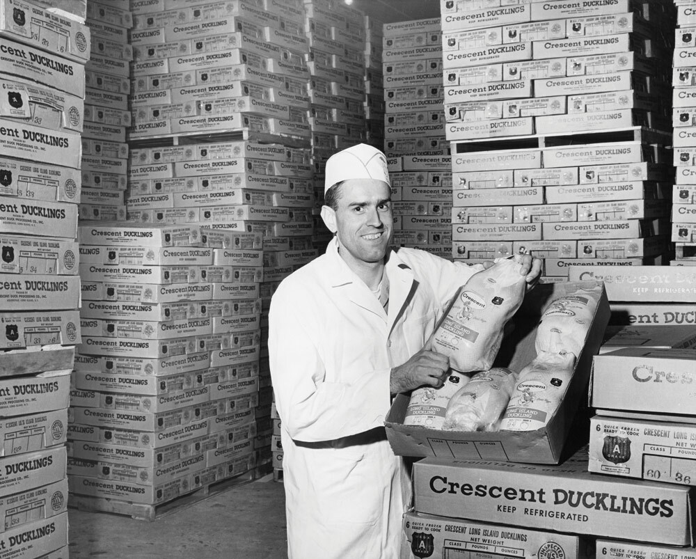 Refrigerator, Crescent Duck Farm, Aquebogue, 1958. COURTESY DOUGLAS CORWIN, CRESCENT DUCK FARM