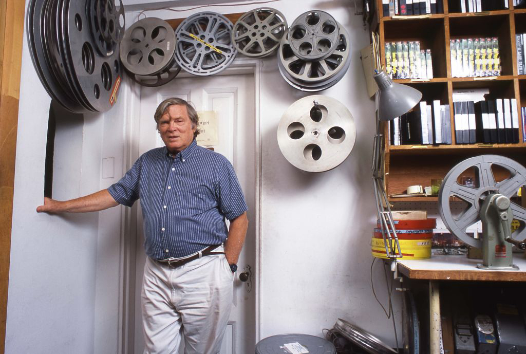 Film director D.A Pennebaker at his offices in New York City, 1995.