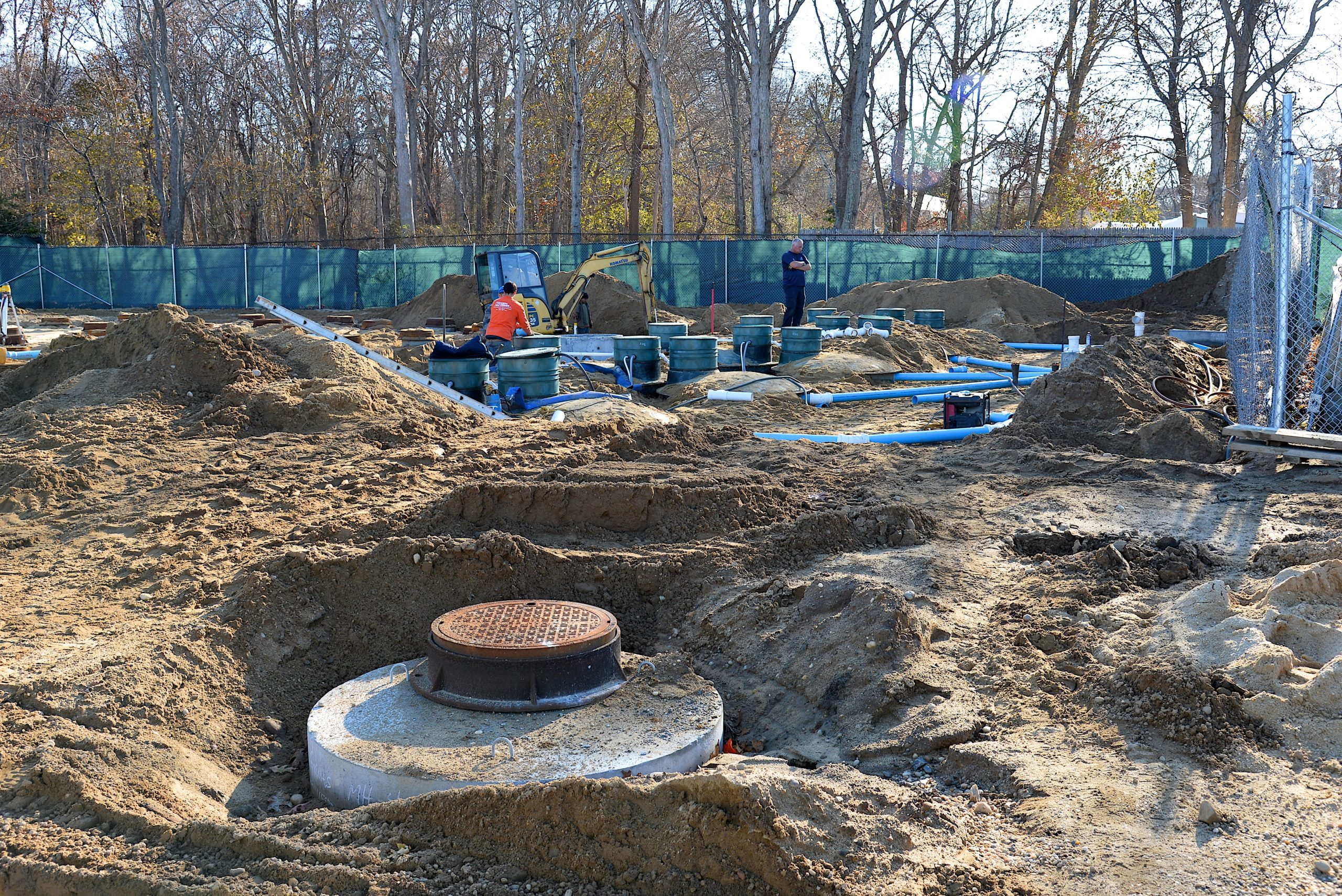 The Springs School is in the midst of a $1.6 million replacement of its septic system. East Hampton Town approved a $227,000 grant from the town's Community Preservation Fund to cover some of the costs.