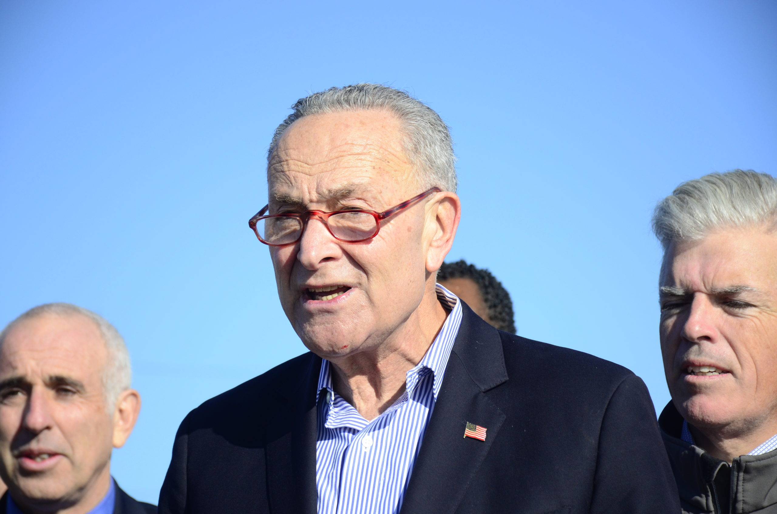 U.S. Senator Chuck Schumer said he is working at the federal level to get additional dredging in Hampton Bays. GREG WEHNER