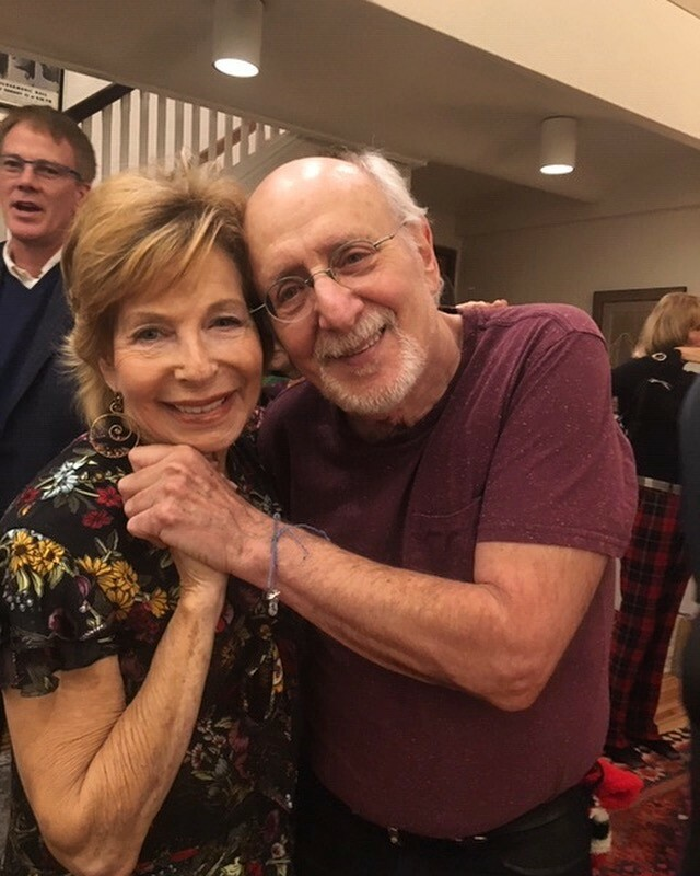 Gail Sheehy and Peter Yarrow in Flordia with the Parkland students.
