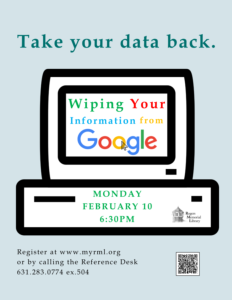 Wiping Your Information from Google