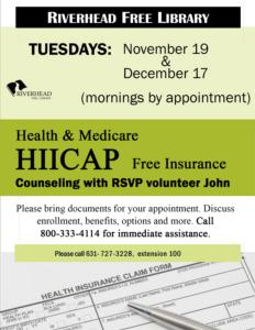 Health & Medicare HIICAP Free Insurance Counseling