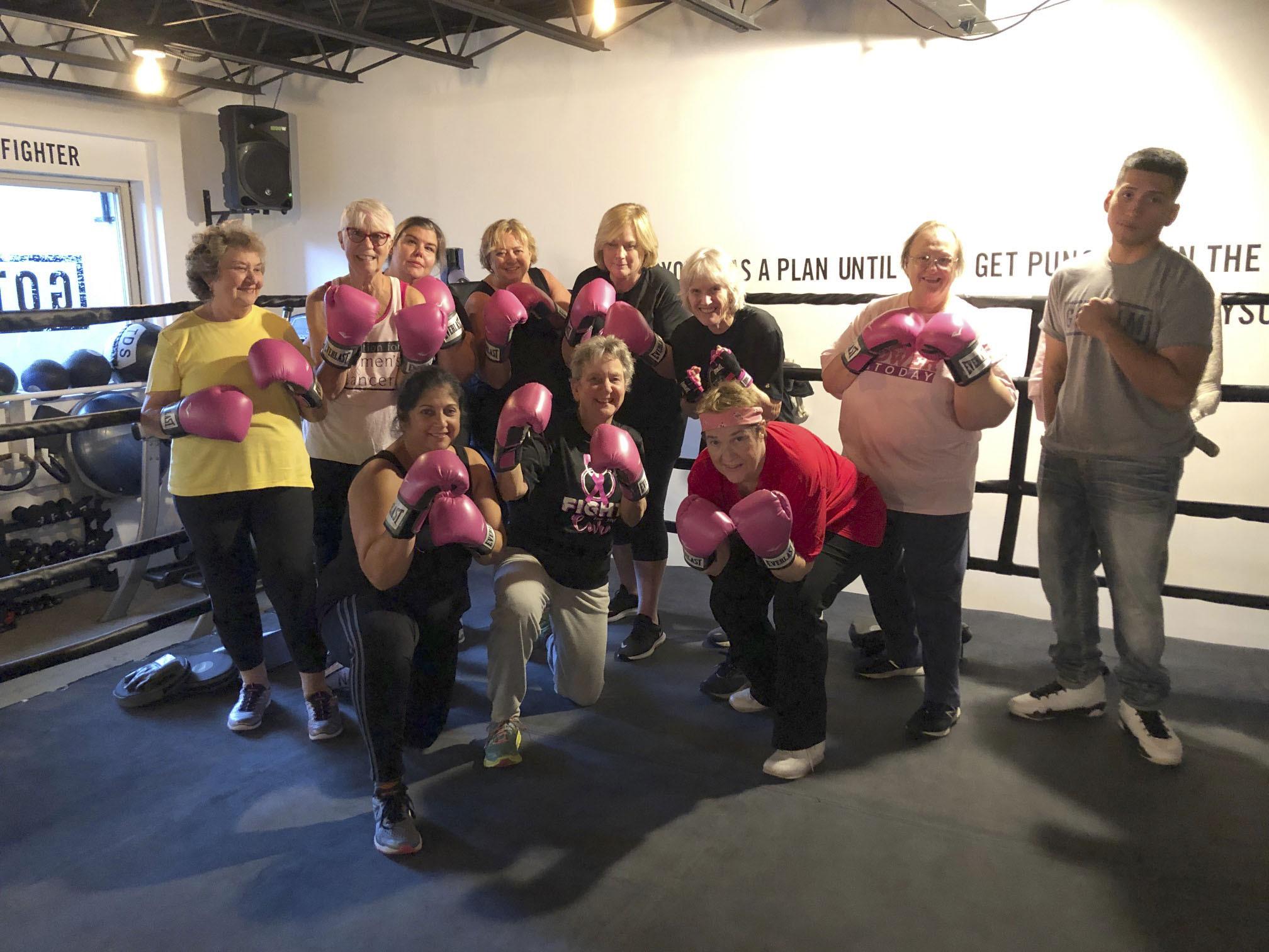 Members of Fight Mode at the Gotham Gym in Bridgehampton.