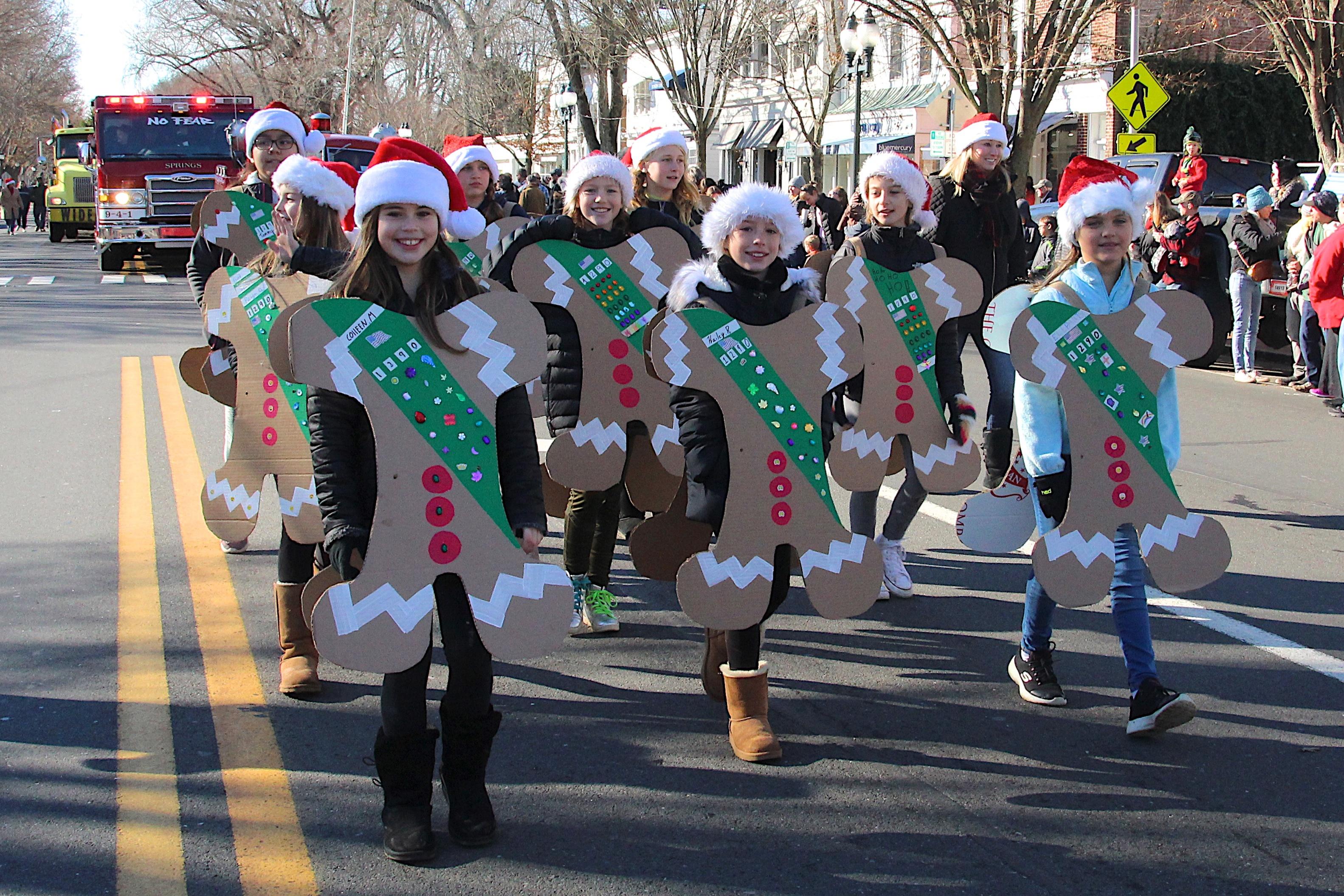 Last years Santa Parade in East Hampton Village.