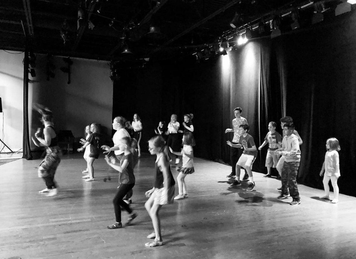 A rehearsal from South Fork Performing Arts production of