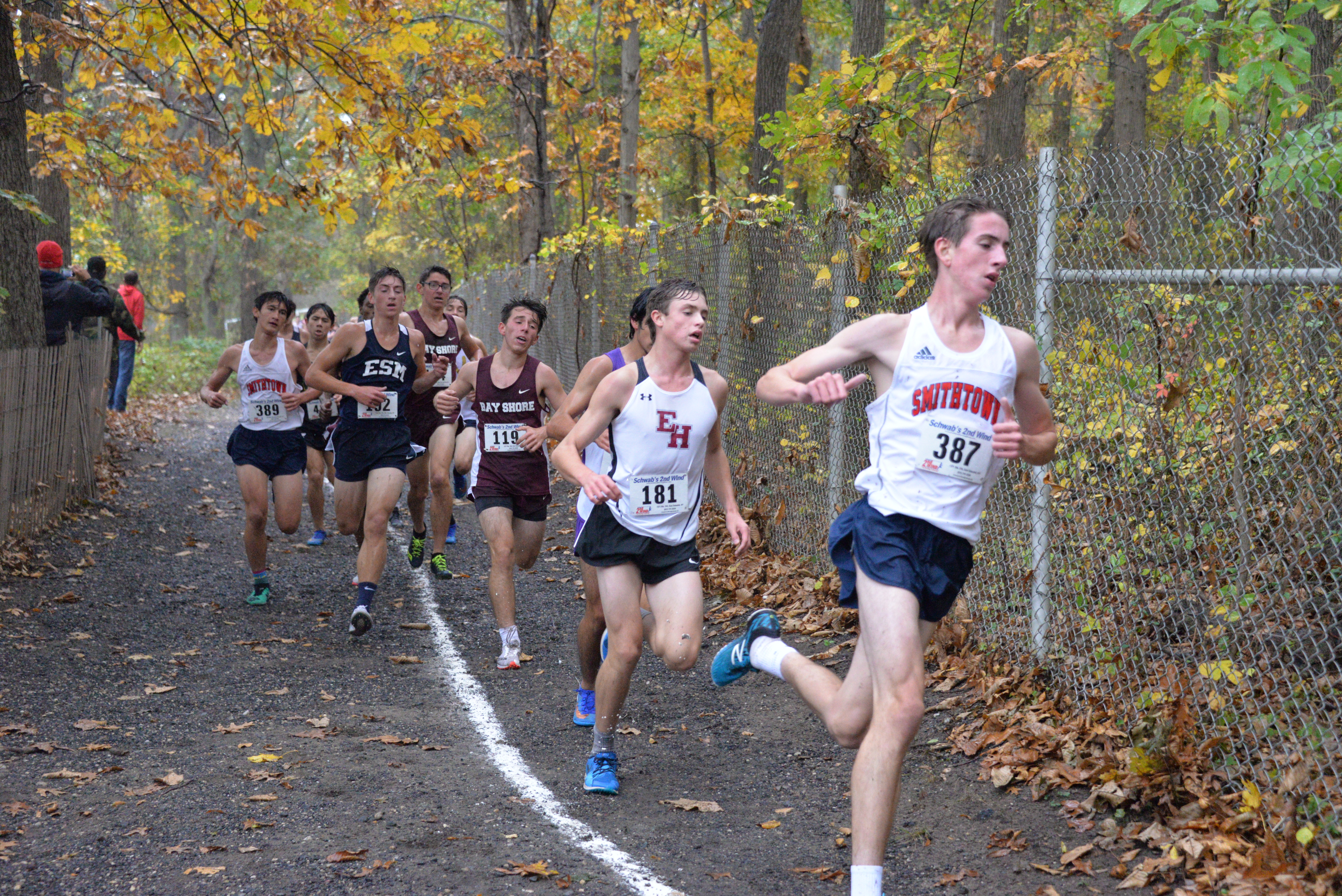 East Hampton sophomore Evan Masi finished third in Division III on October 29.
