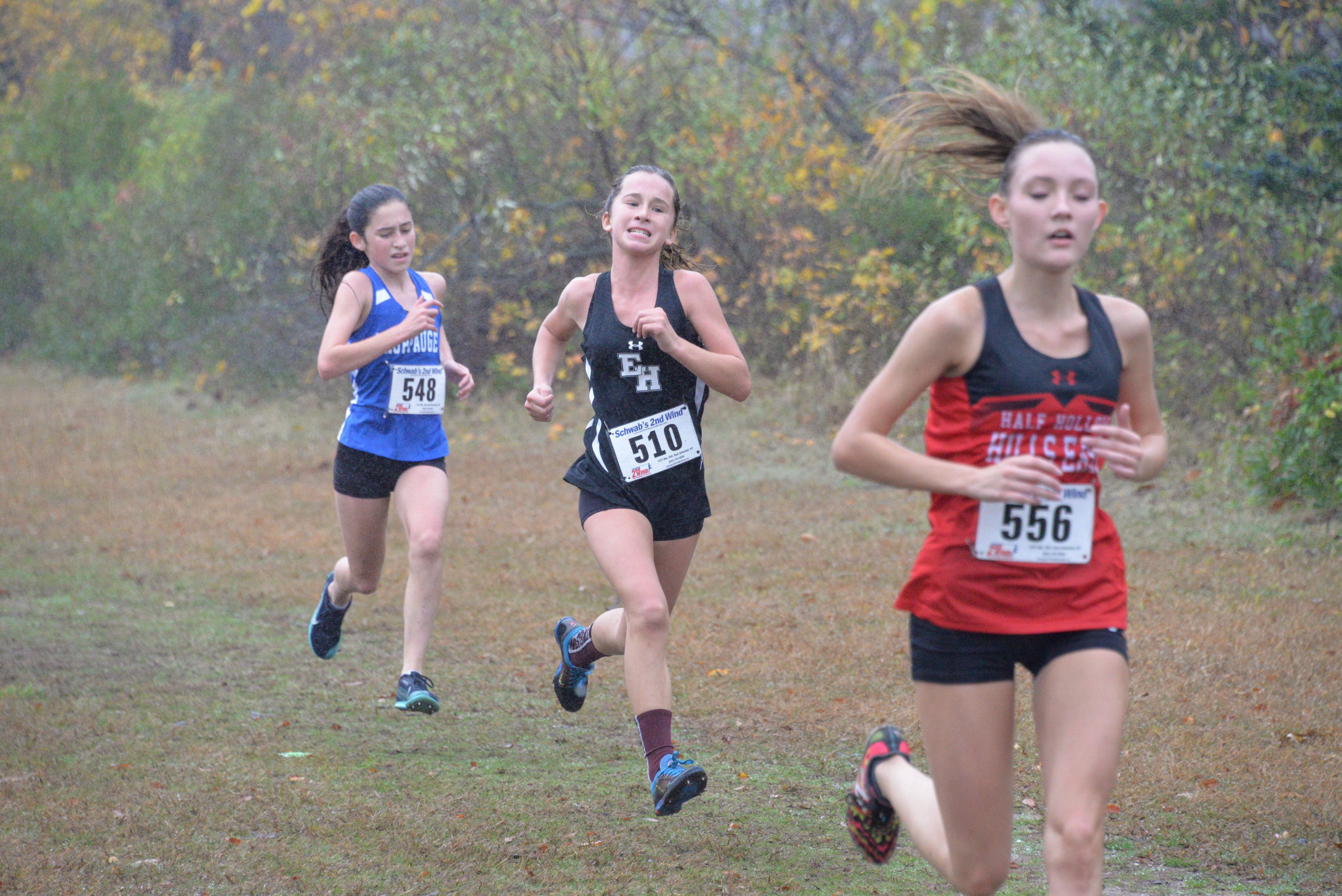 Eighth-grader Dylan Cashin came up big for the East Hampton girls cross country team at the division meet on October 29.