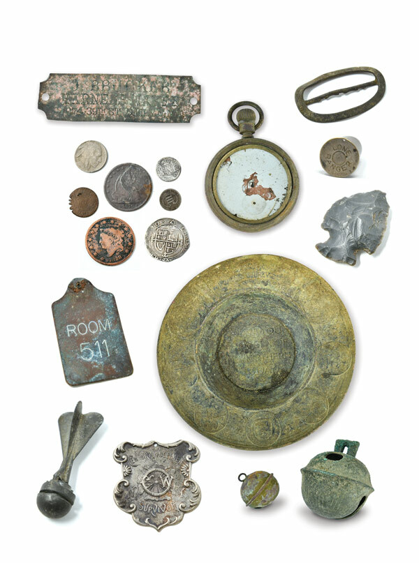 A sampling of objects found by Charlie Webb and Peter Zegler.