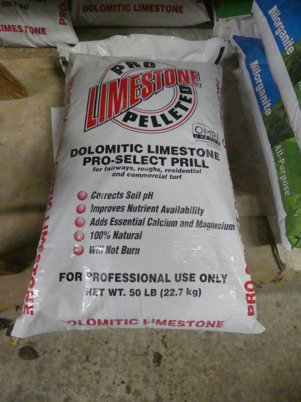 Pelleted limestone is the preferred type if you are simply applying standard dolomitic limestone. This is the micro-prill type for specialized lawns and gold courses, but it may be the one your landscaper chooses to use. Pelletized lime should be fall applied. ANDREW MESSINGER