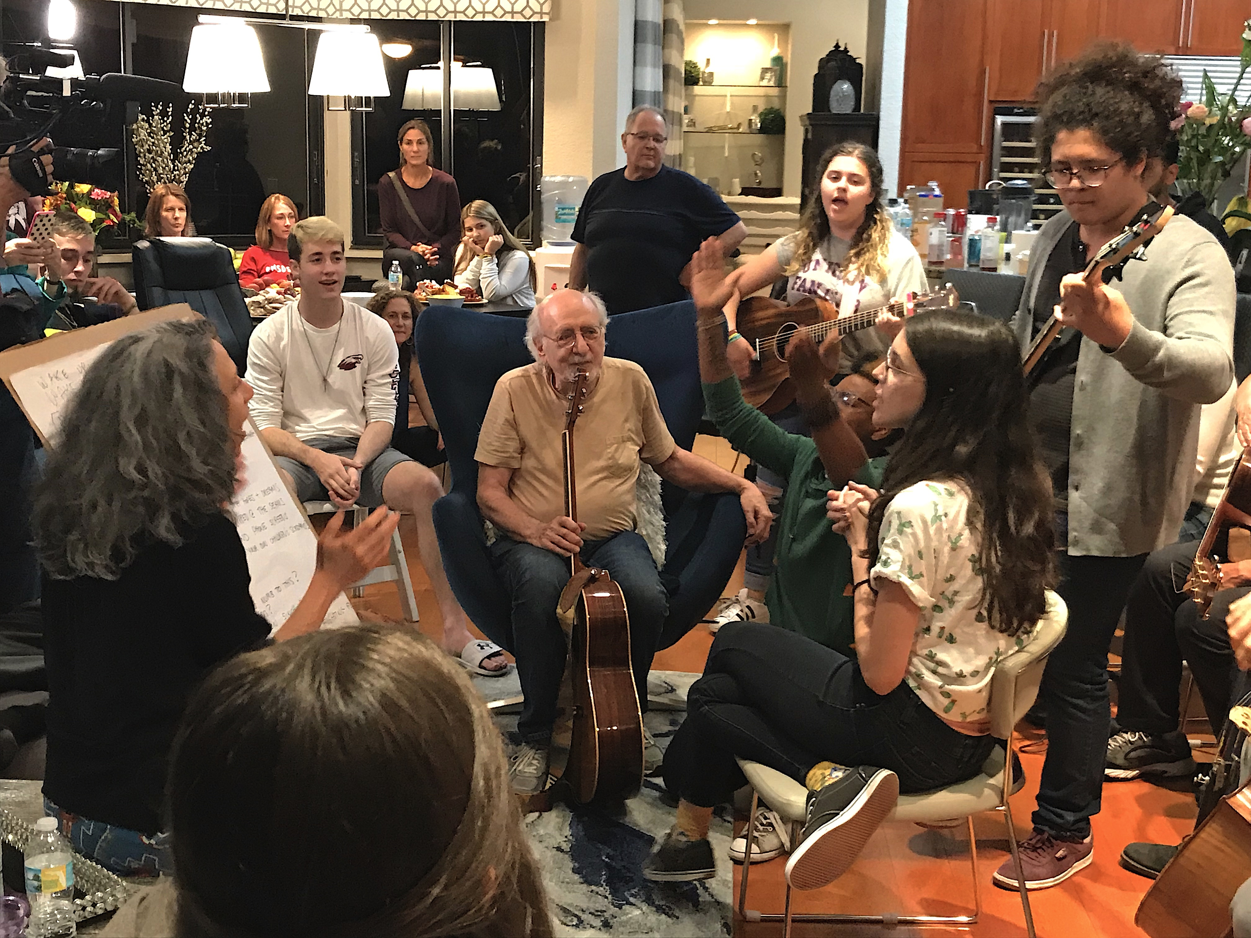 Peter Yarrow in Flordia working with the Parkland students.