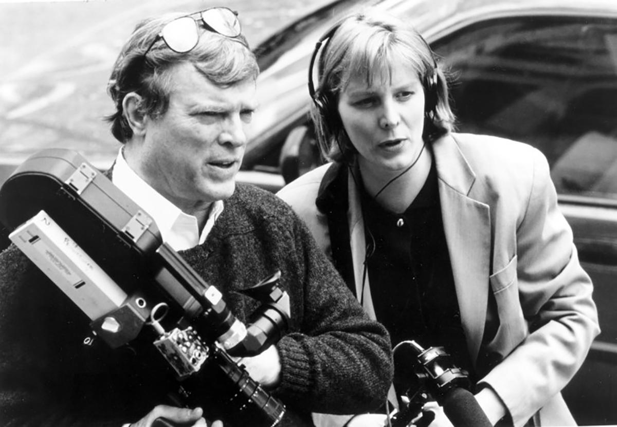 Filmmakers DA Pennebaker and Chris Hegedus during the making of
