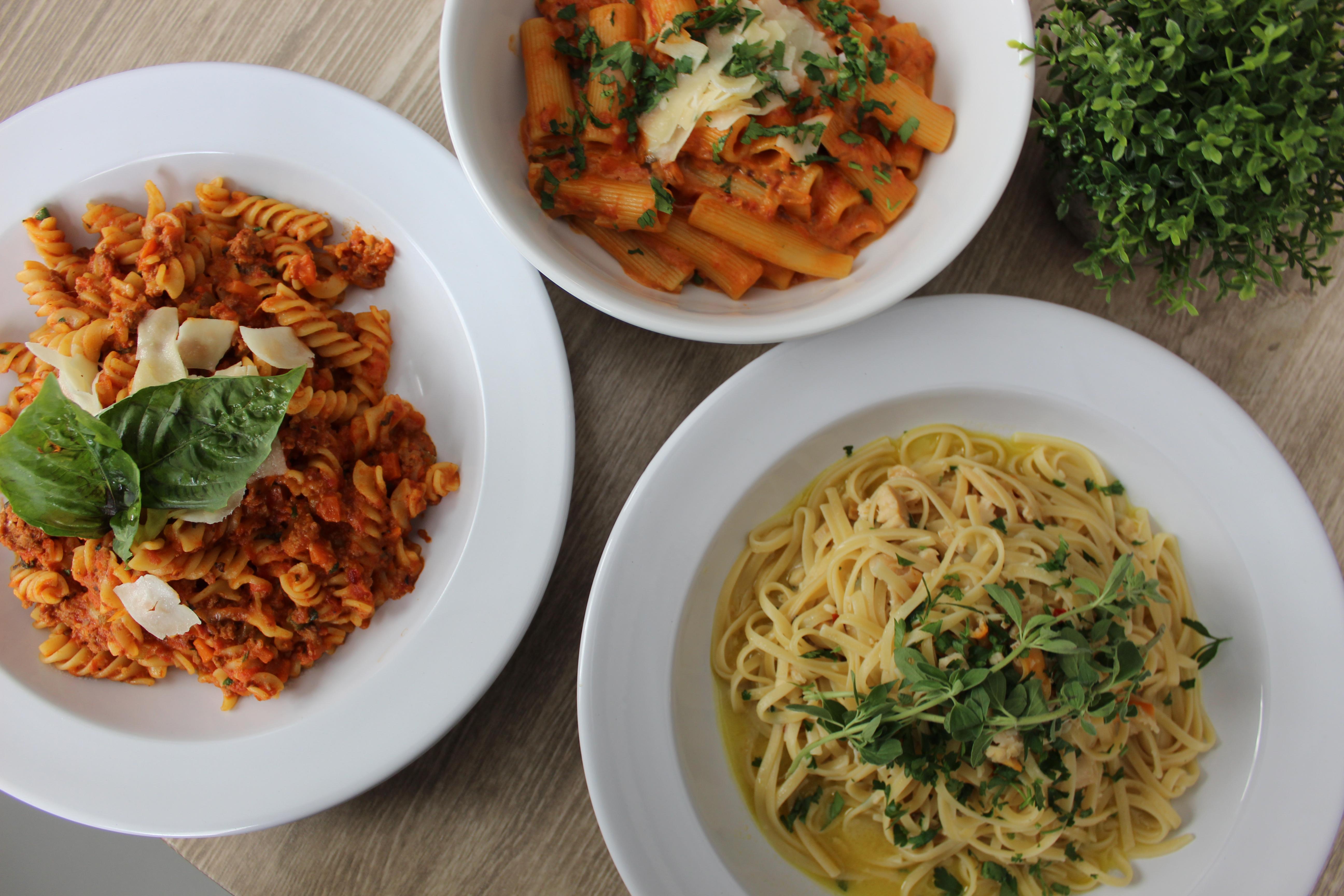 Salvatore's pasta dishes.