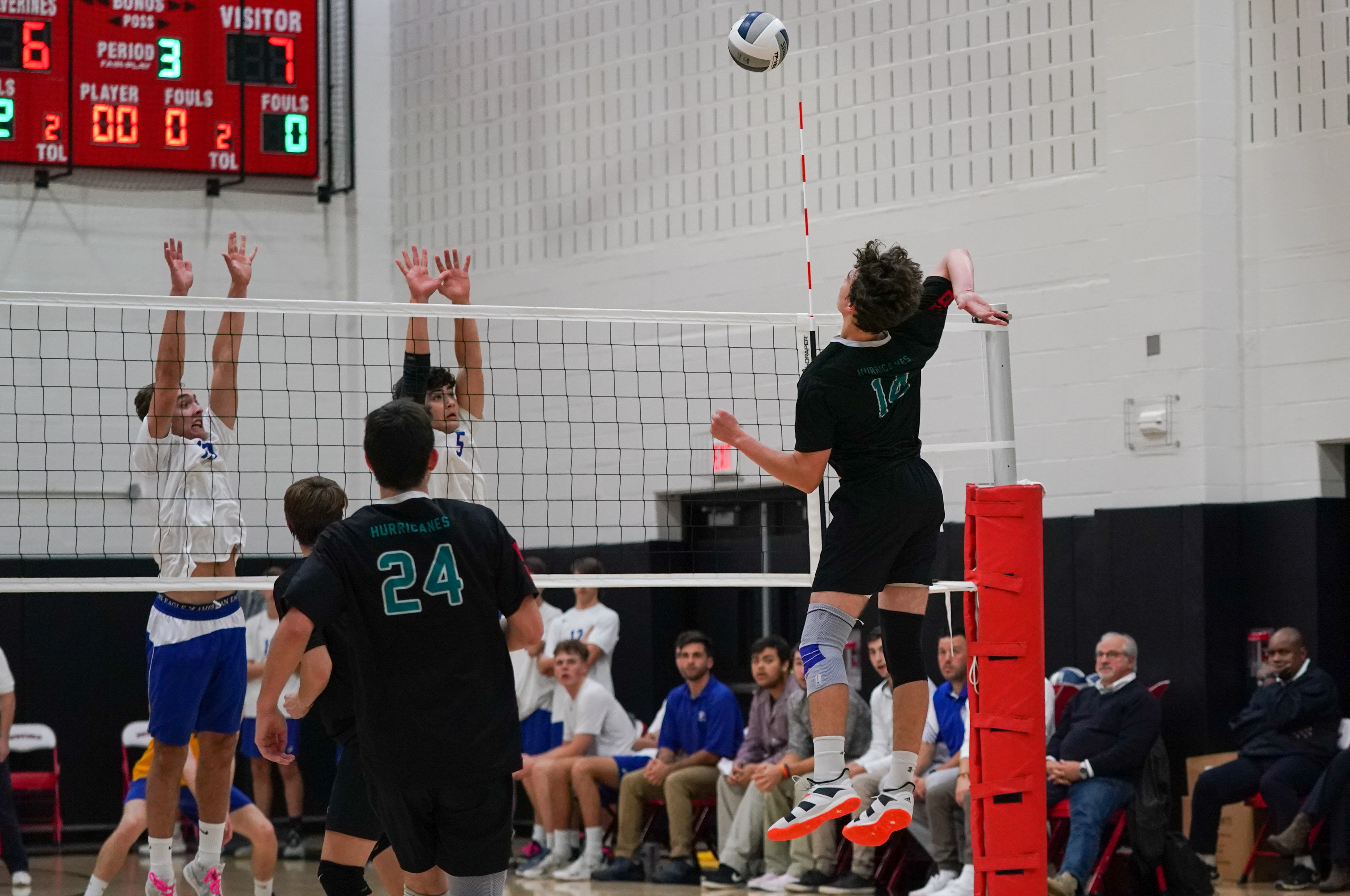 Westhampton Beach sophomore Daniel Haber tied for the team lead on Monday with 15 kills.
