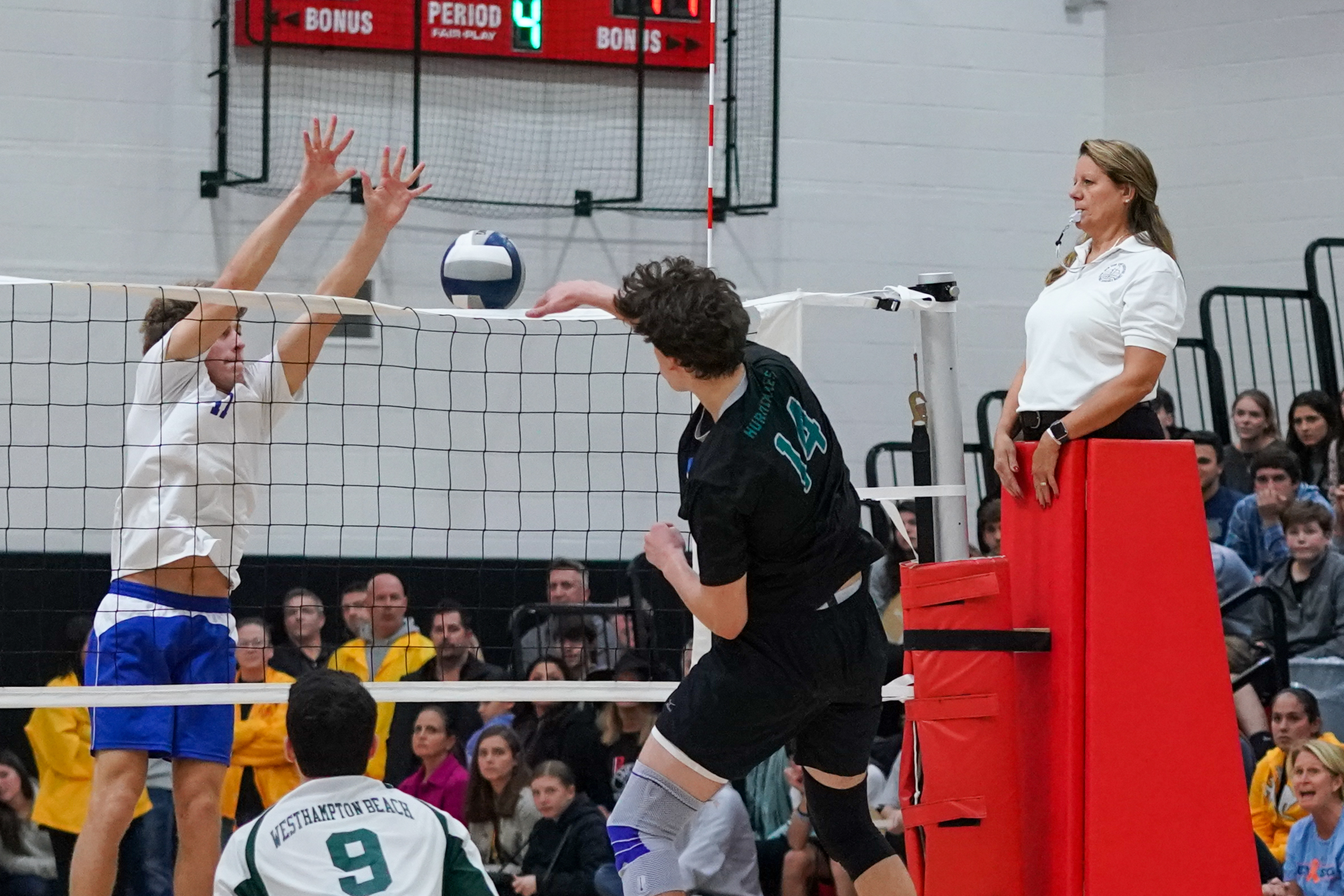 Daniel Haber had 15 kills on the night.