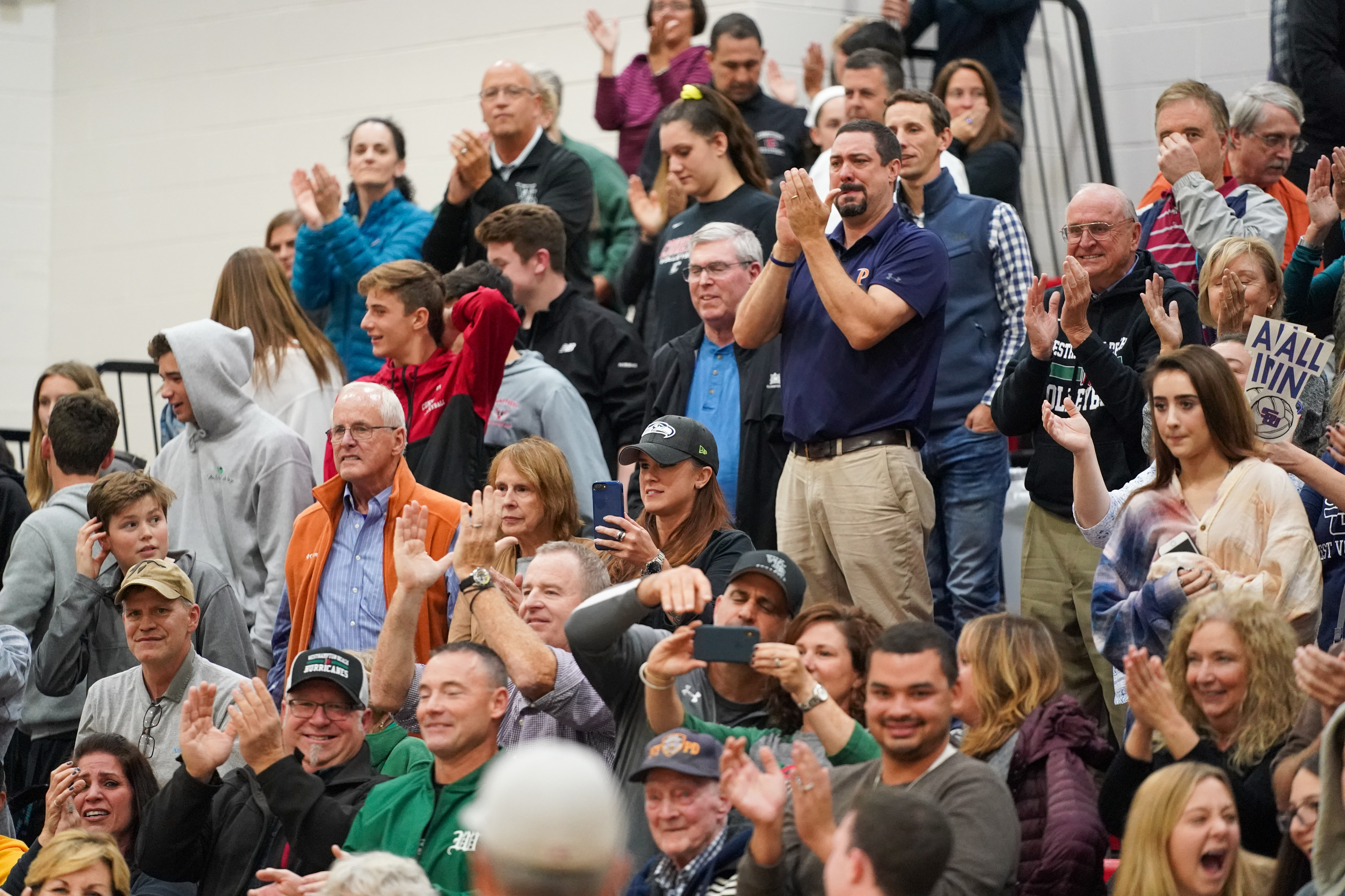 The Westhampton Beach community made the drive to Selden on Monday evening to see history be made.