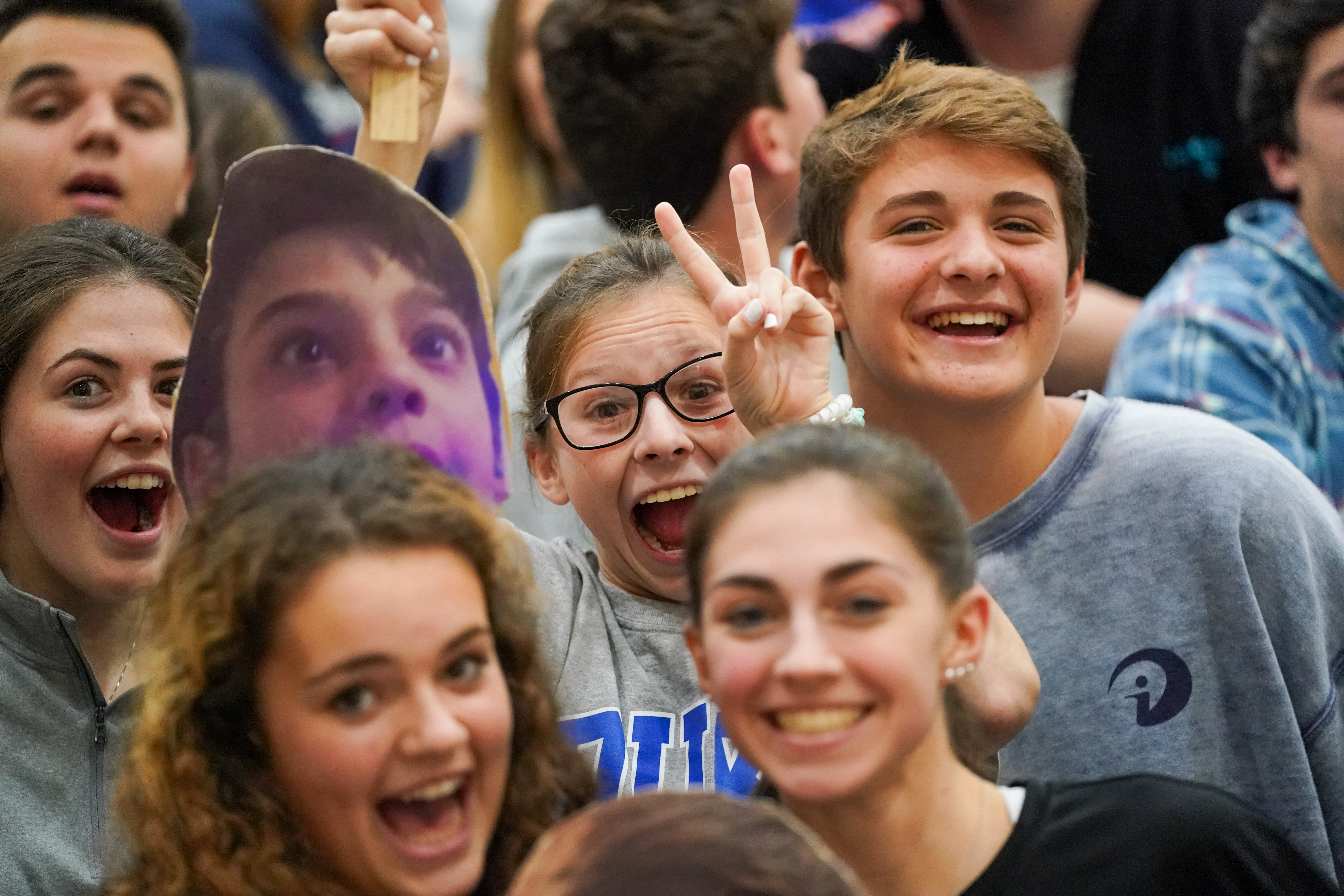 Westhampton Beach fans and family support the team at Monday's county final.