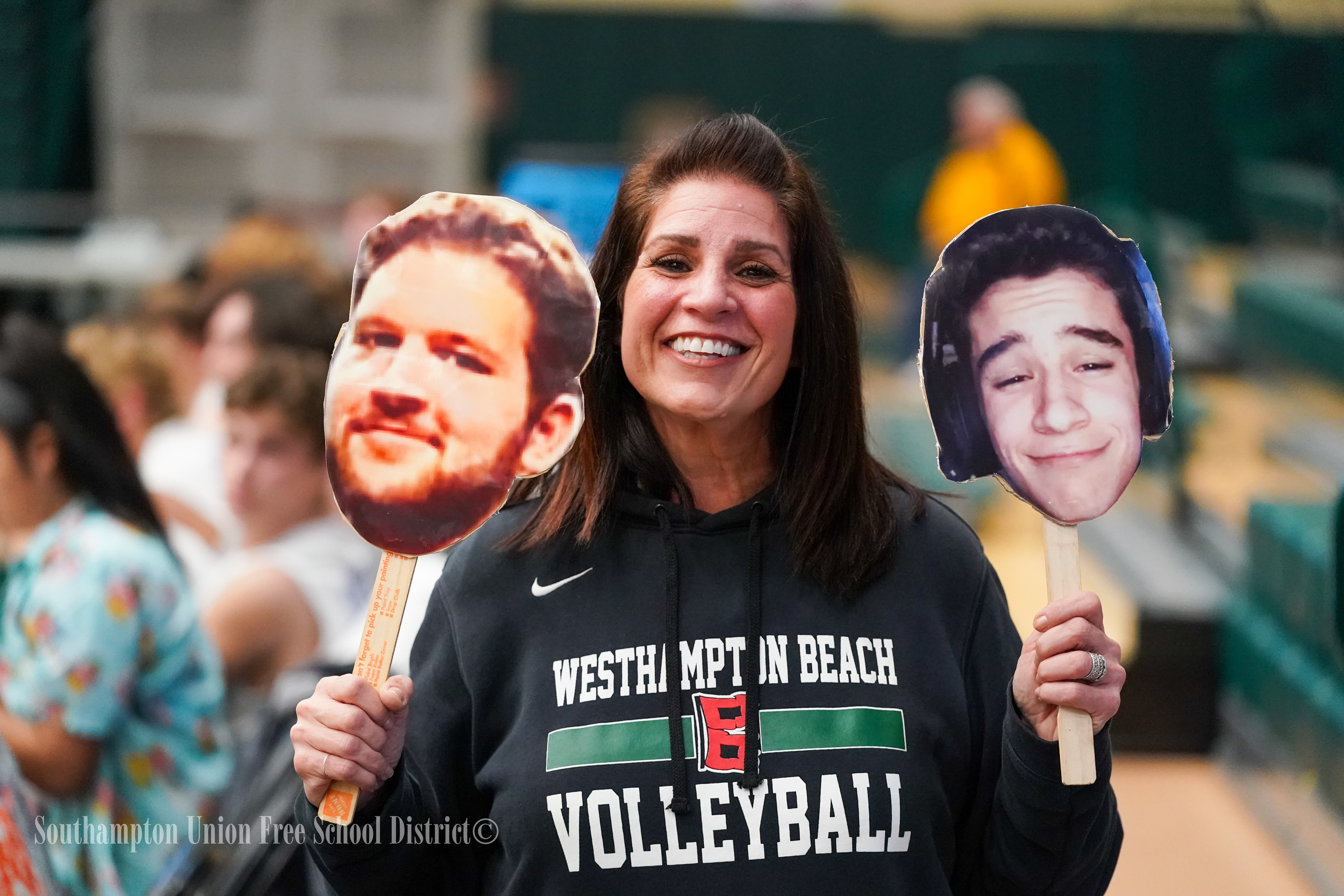 The Westhampton Beach community came out once again, this time in Farmingdale, to support its boys volleyball team.