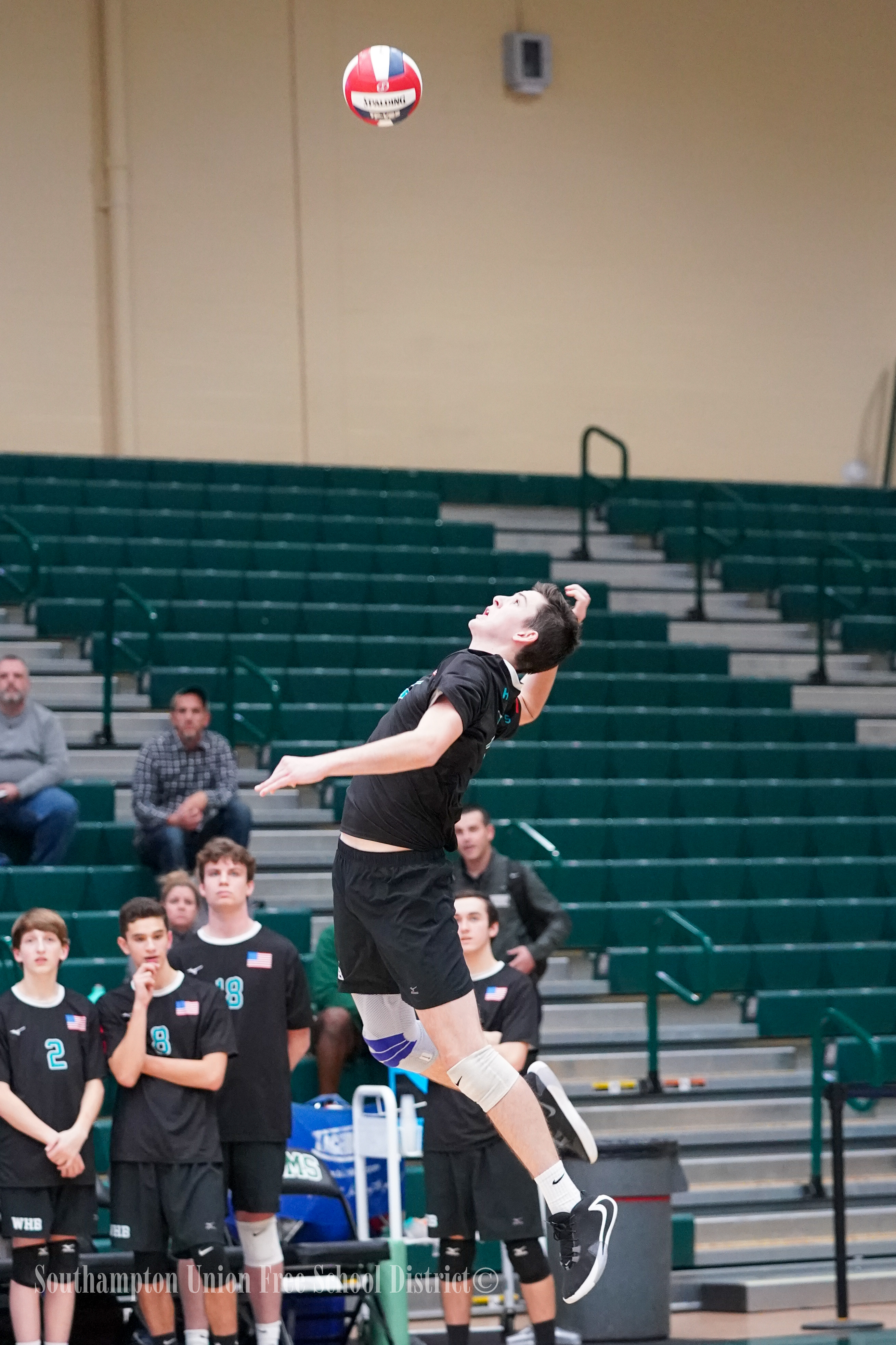 Westhampton Beach junior Ryan Barnett led the team with 18 kills on Tuesday night.