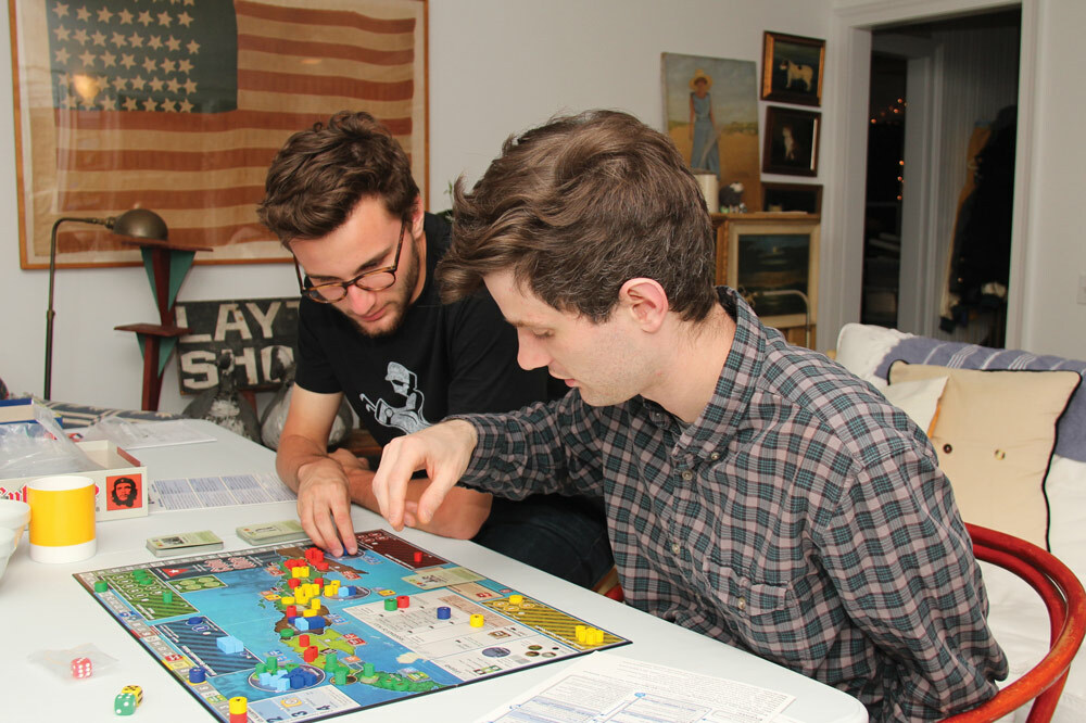 Sam Creech, right, playing Cuba Libre with his brother, Jack Motz.