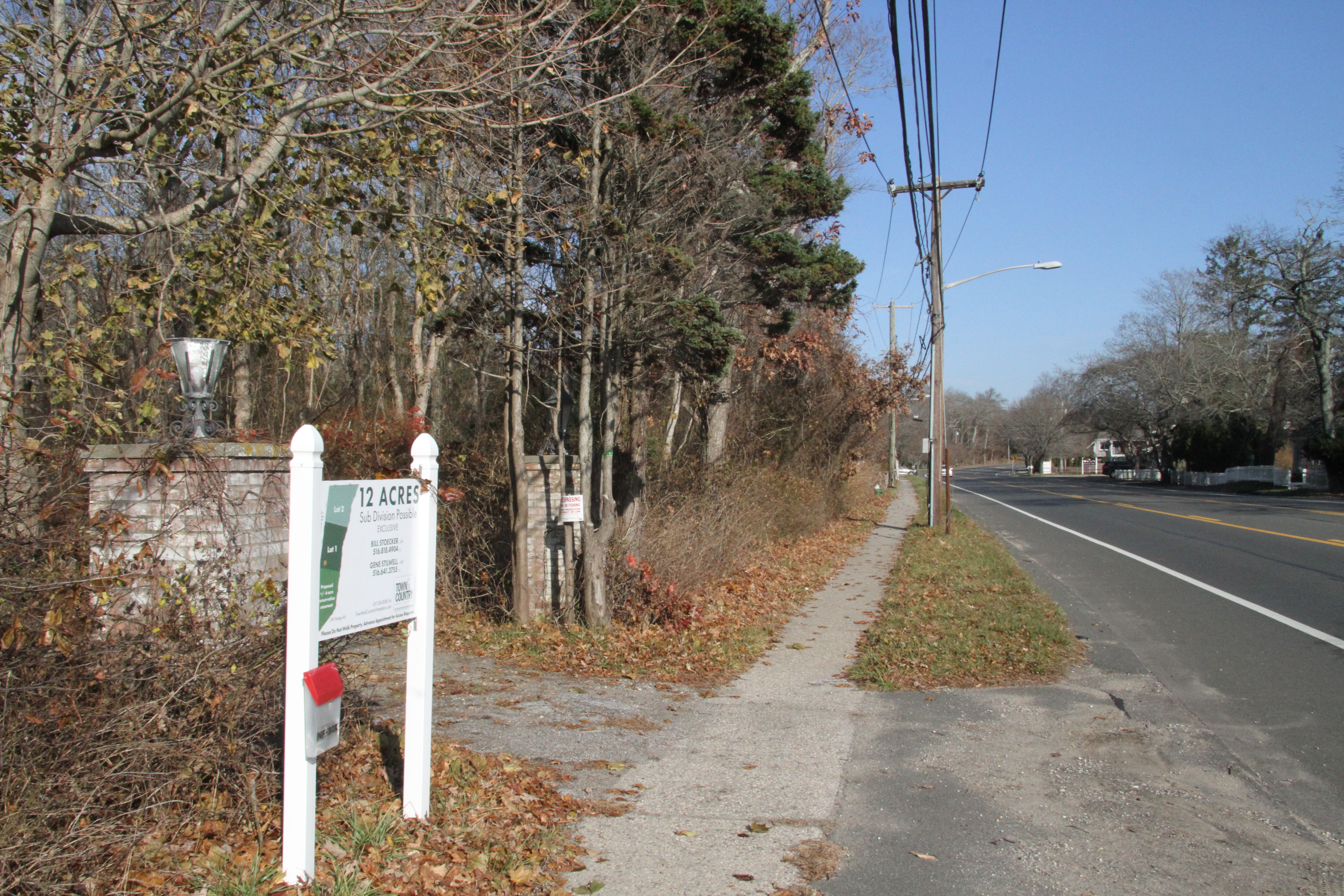 East Hampton Town has an agreement to purchase 12 acres of land off Pantigo Road, a portion of which it plans to use for a future affordable housing development project.