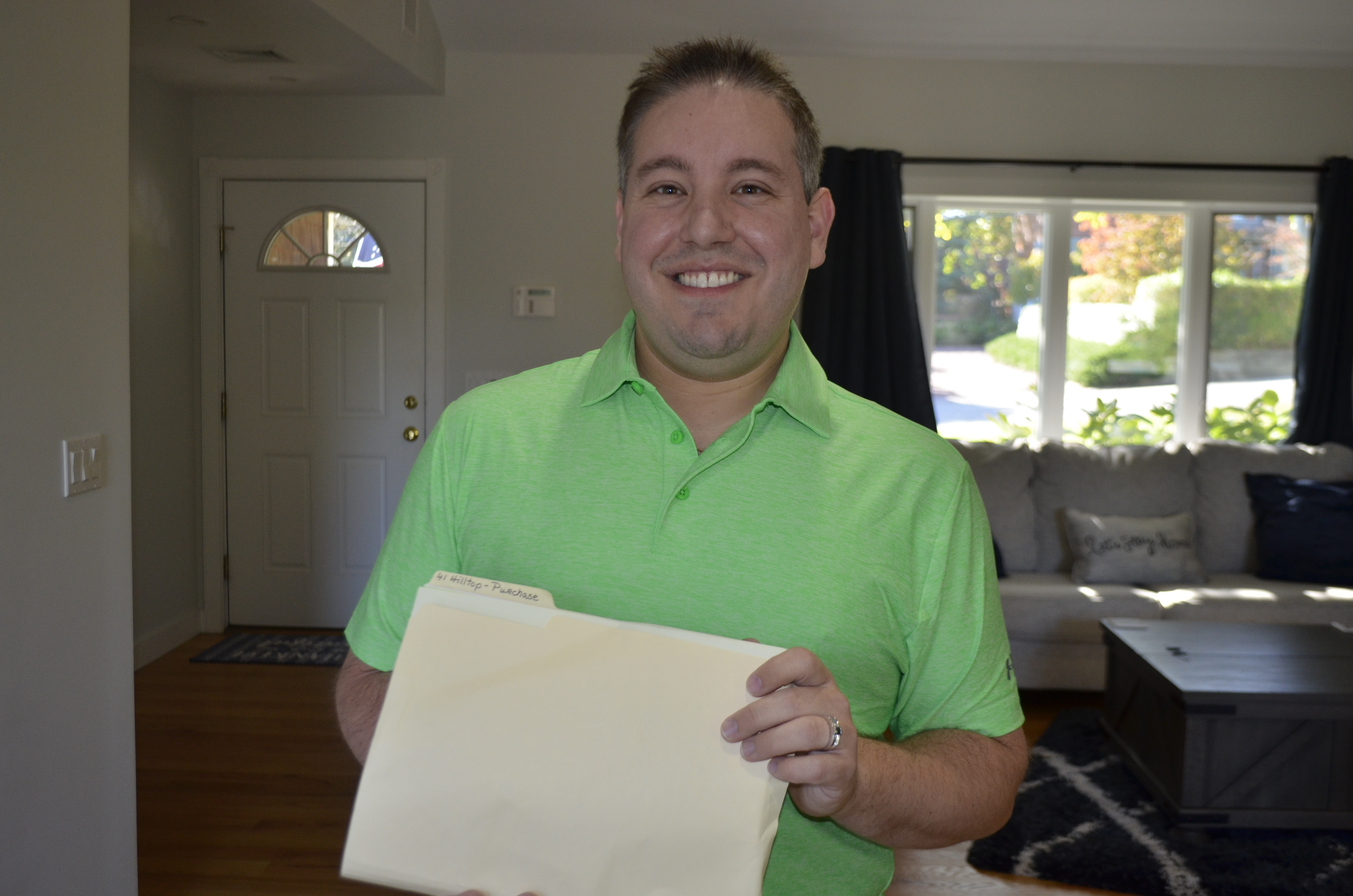 deed to his new home