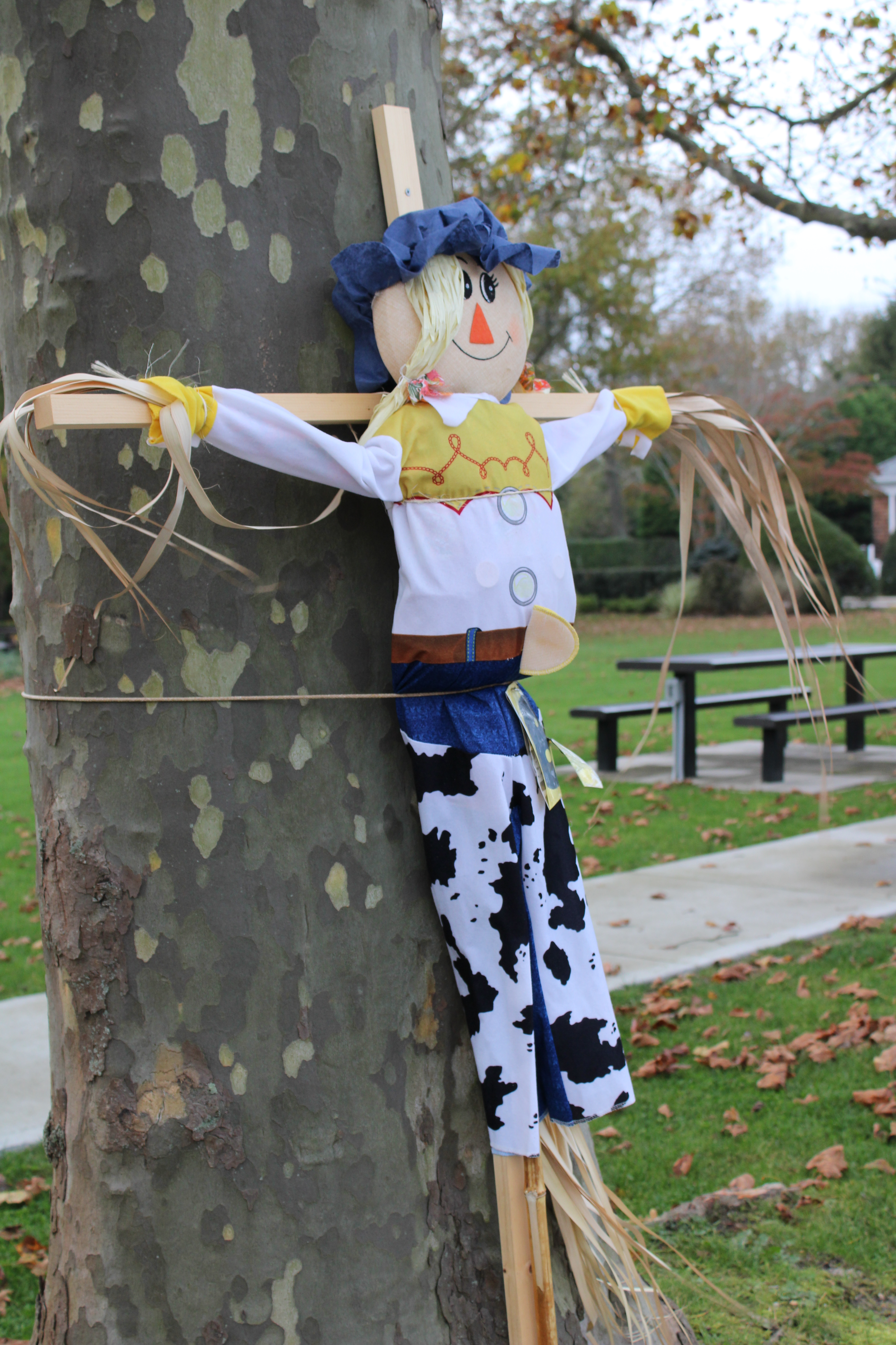 First place winner Lego Man scarecrow made by the Murray family.  RACHEL VALDESPINO