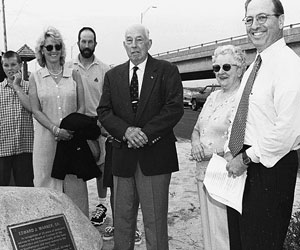 The dedication of Ed Warner Park in Hampton Bays.