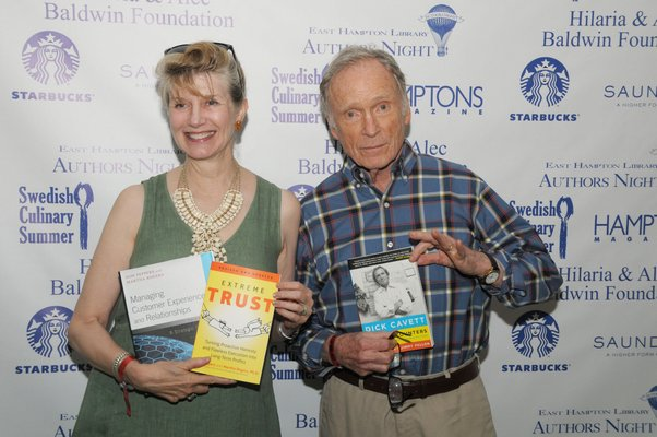 Martha Rogers and Dick Cavett.