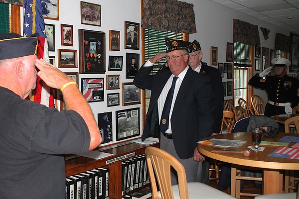 Parade participants met at the American Legion later to hold an 11th month