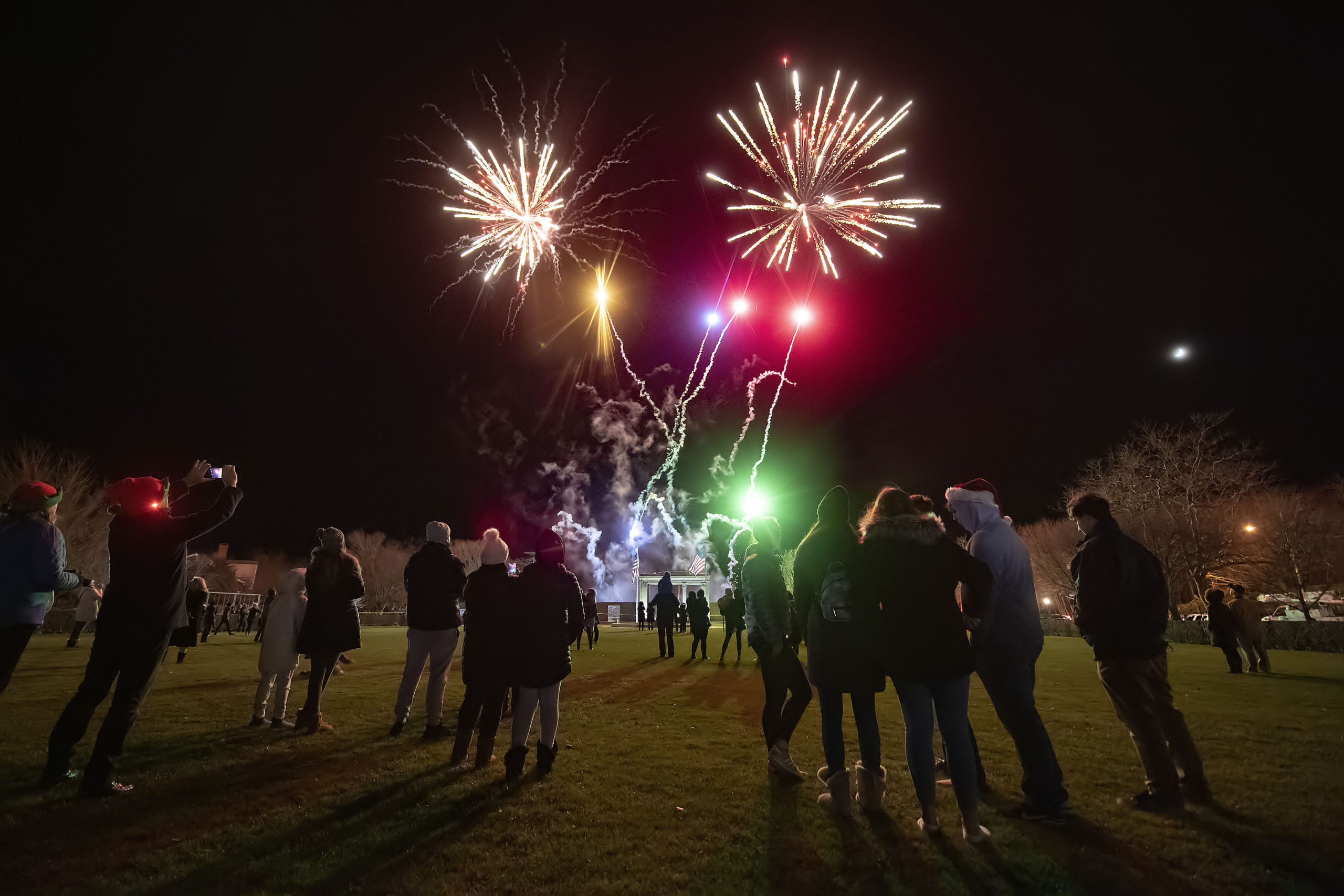 Fireworks in Agawam Park following the 2019