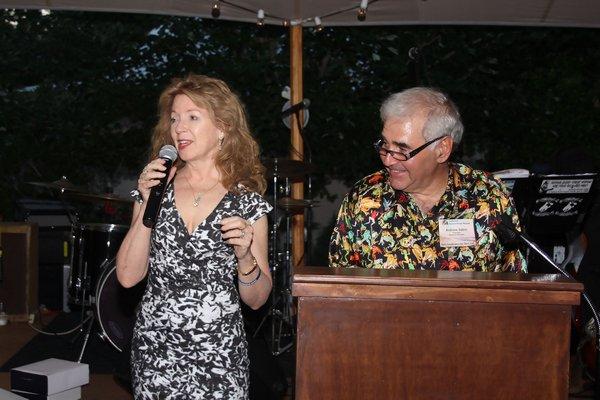 Honoree April Gornik and Andy Sabin.