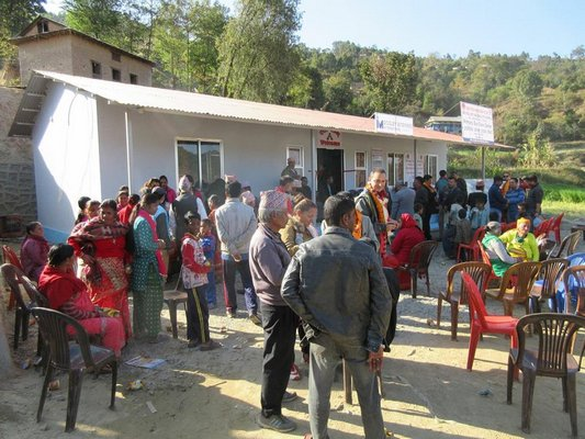 Some of the patients during Operation International's recent Operation Restore Vision trip to Nepal