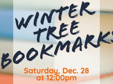 Winter tree bookmarks