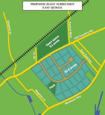 Proposed 29-lot subdivision in East Quogue