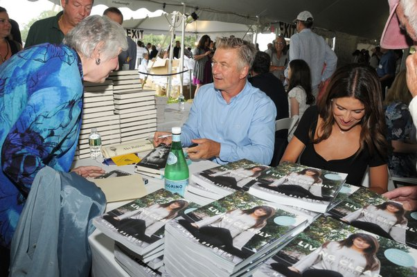 Alec and Hilaria Baldwin at Authors Night.
