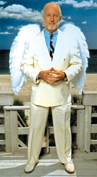 Mission of Kindness founder Jay Sears would often wear white angel wings to promote his foundation.