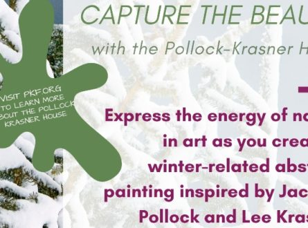 Quogue Library Kids: painting with Pollock-Krasner House