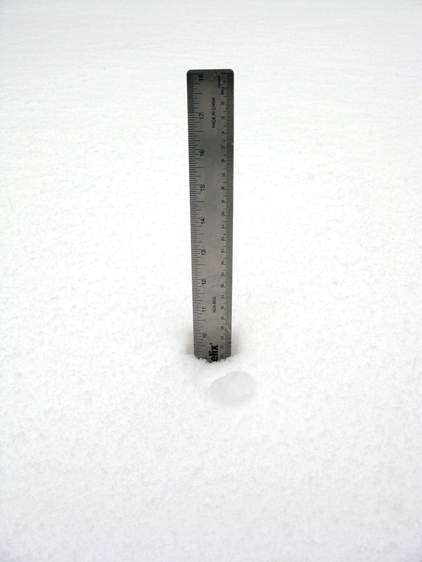 Almost 10 inches in North Sea as of Wednesday monring.  ALEA  HARKAWIK