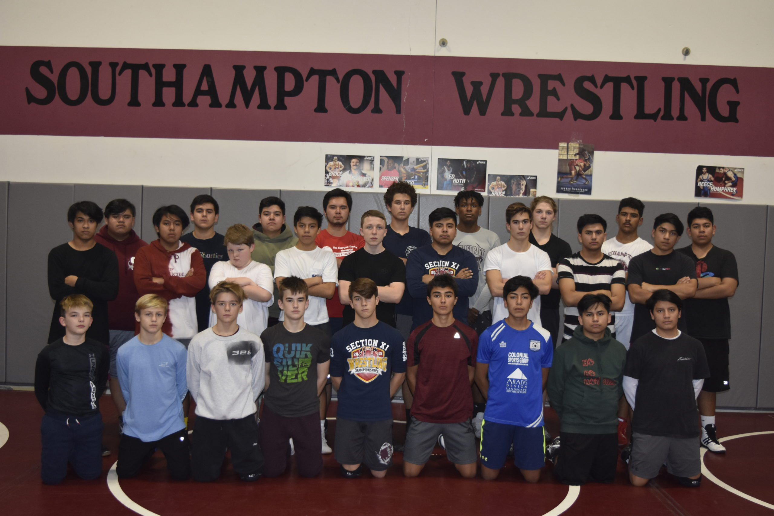 Numbers are up for the Southampton wrestling team this season.
