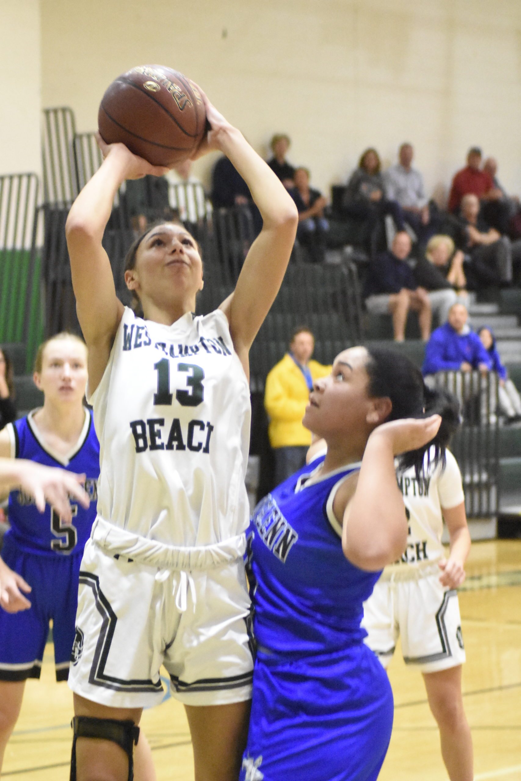 Westhampton Beach senior Layla Mendoza scored a game-high 25 points in a victory over Glenn on Friday.