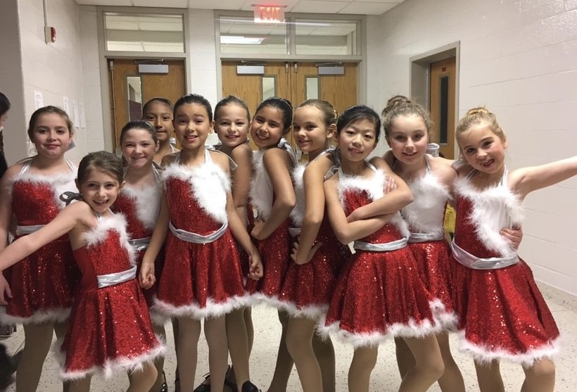 Dancers from Creative Edge Studio's backstage at the 2018 Holiday Spectacular.