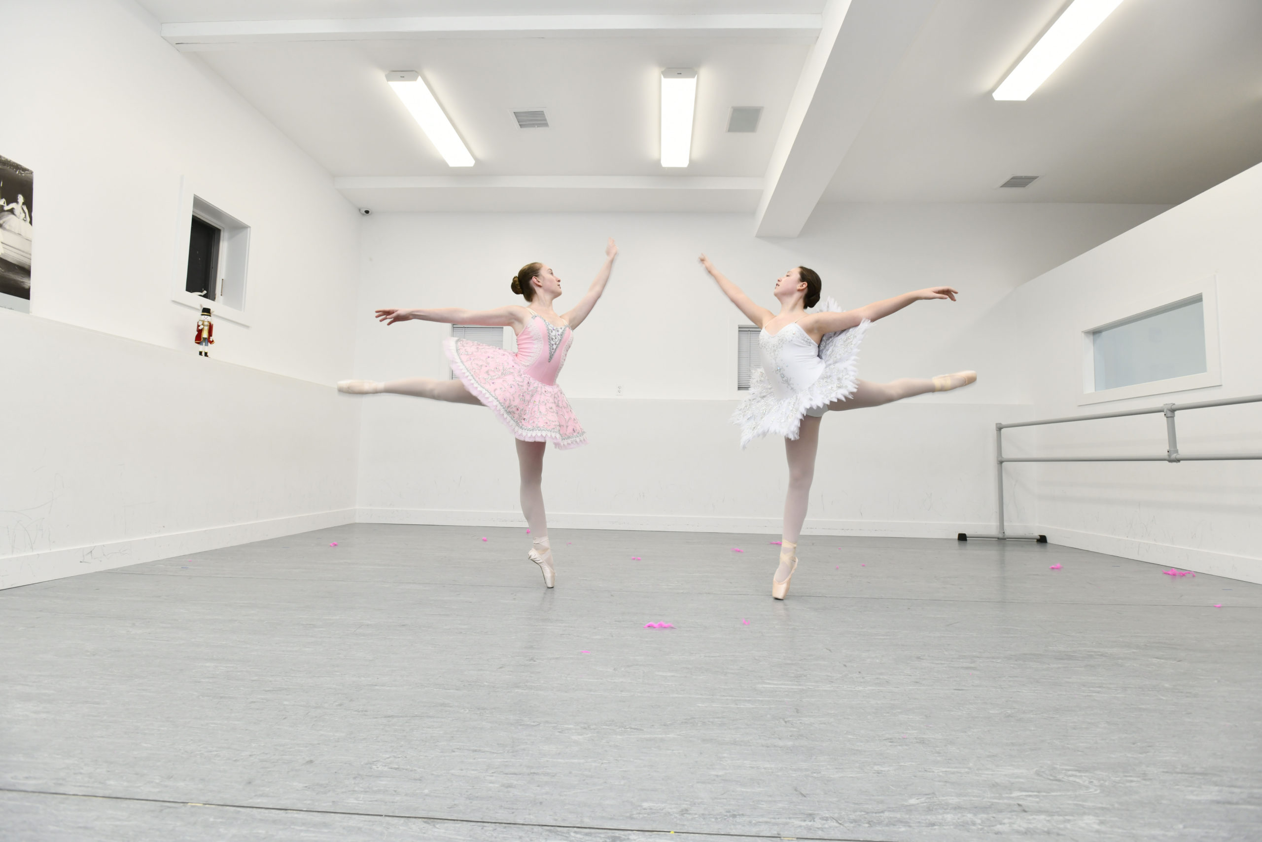 Elizabeth Gluck and Avery McClelland  uring rehearsals for the Studio 3 production,