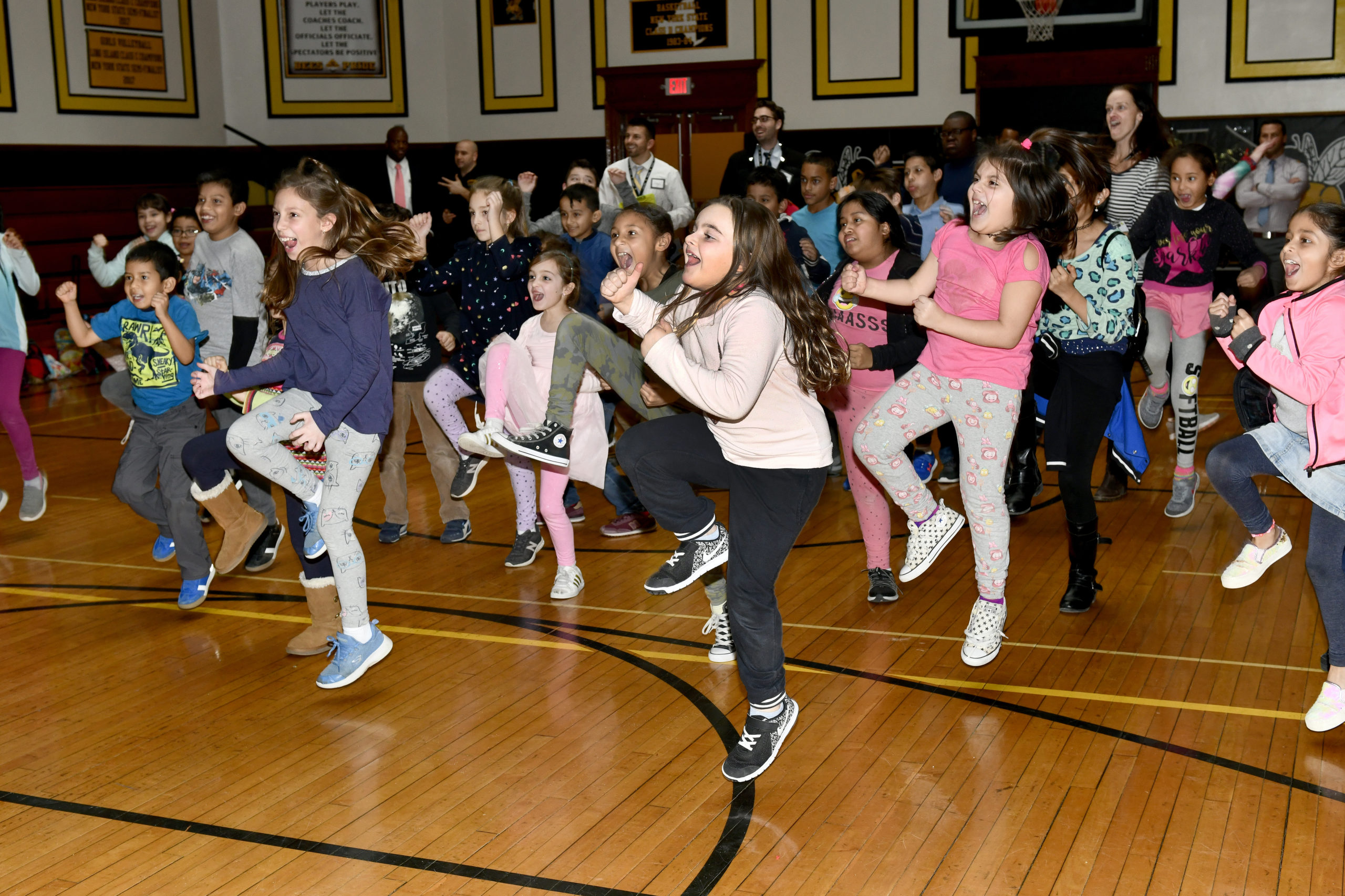 Dance Till You Drop! January 24 -- The Bridgehampton School Elementary Student Council hosted a dance marathon on Friday in the school gym. The event was organized by fifth-grader and Student Council President, Sascha Gomberg.
